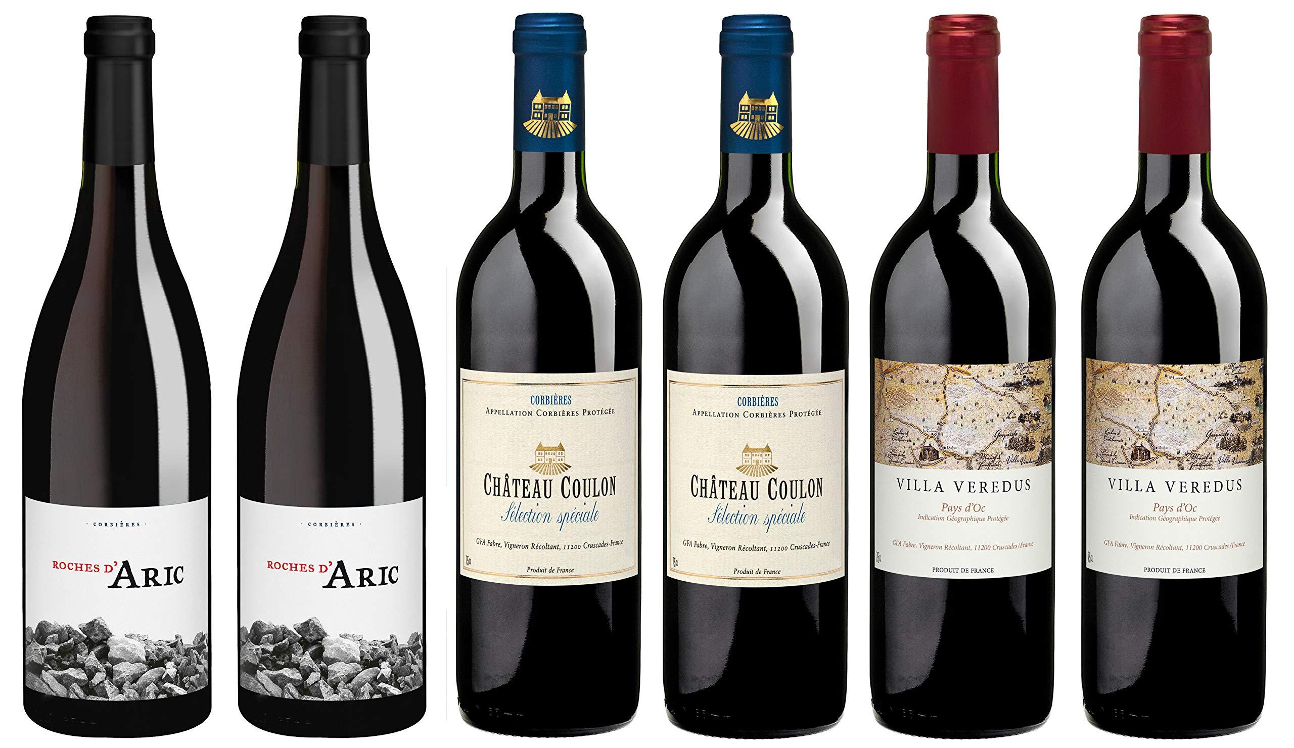 Delinat-Bio-Wein-Probierpaket-Rotwein-Languedoc-Sdfrankreich-Trocken-Vegan-6-x-075-l