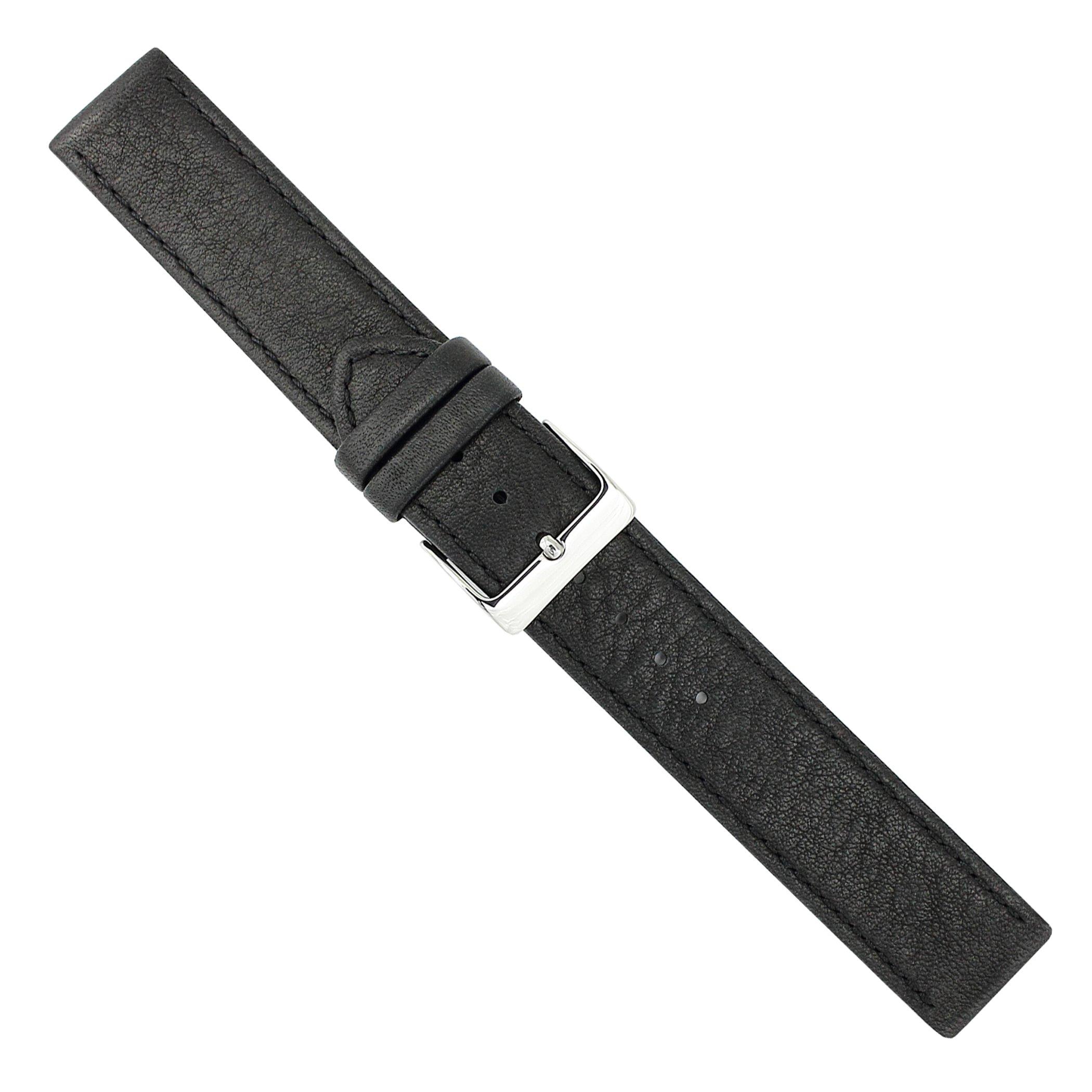 Uhrbanddealer-Unisex-Uhrenarmband-Softina-Nappa-Leder-18mm-Schwarz-Wasserfest-274818s