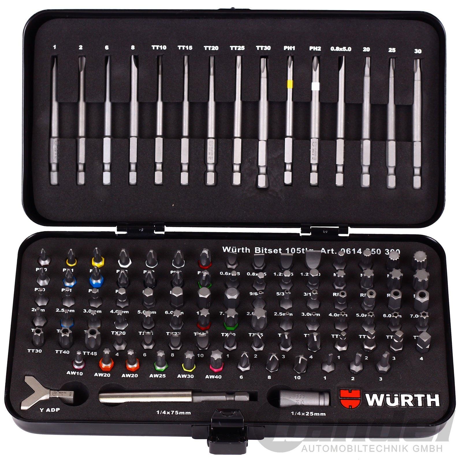 Wrth-universeller-Werkzeugsatz-105-tlg-Bit-Set-im-robusten-Metallkoffer-0614-250-300