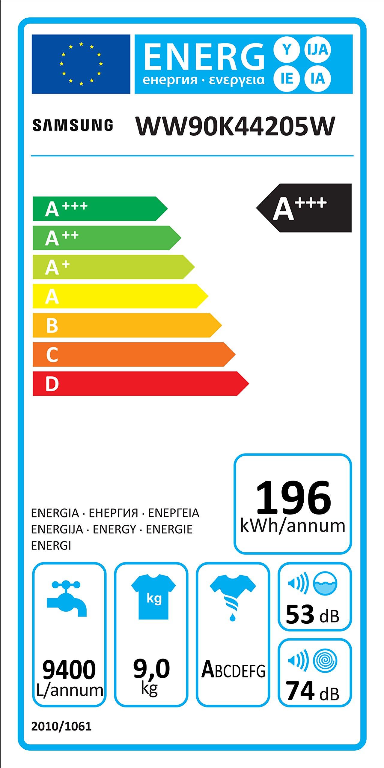 Samsung-WW4500-WW90K44205WEG-AddWash-Waschmaschine-FrontladerA1400-UpMkgECO-TrommelreinigungDiamond-PflegetrommelWei