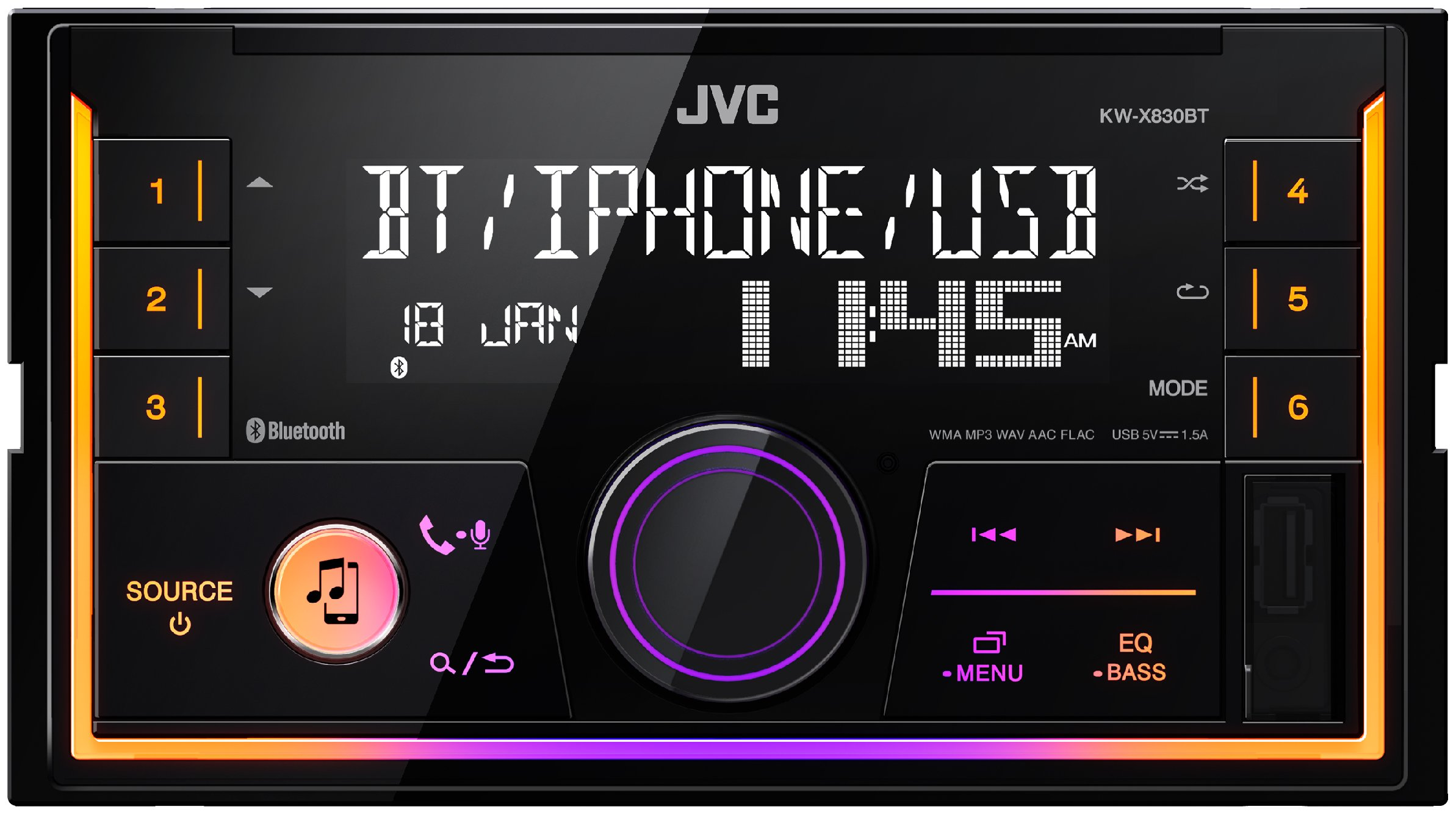 JVC-Doppel-DIN-Receiver