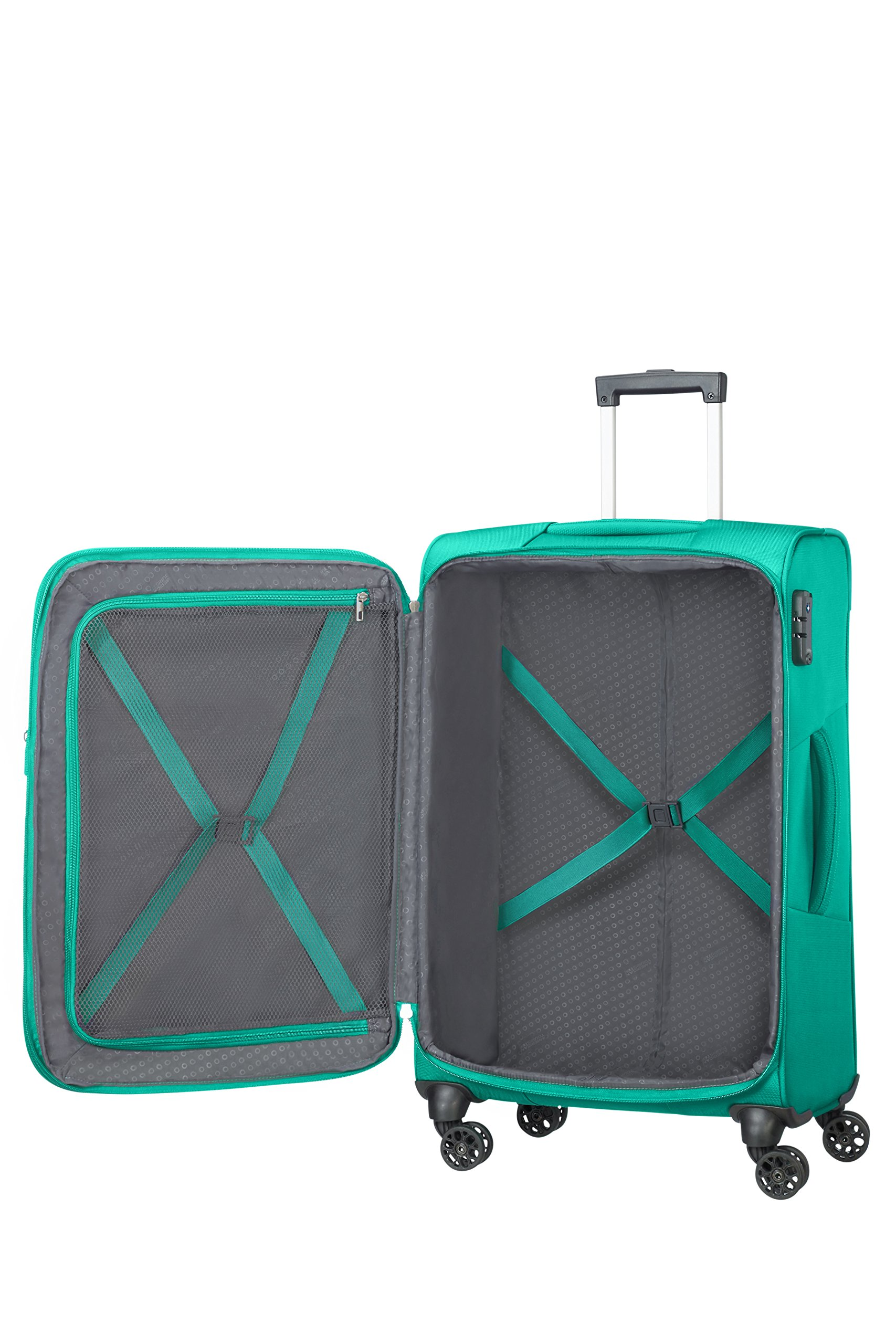 American-Tourister-Summer-Voyager-Spinner-Erweiterbar-33-kg-Koffer-68-cm-675-L-Peacock-Green