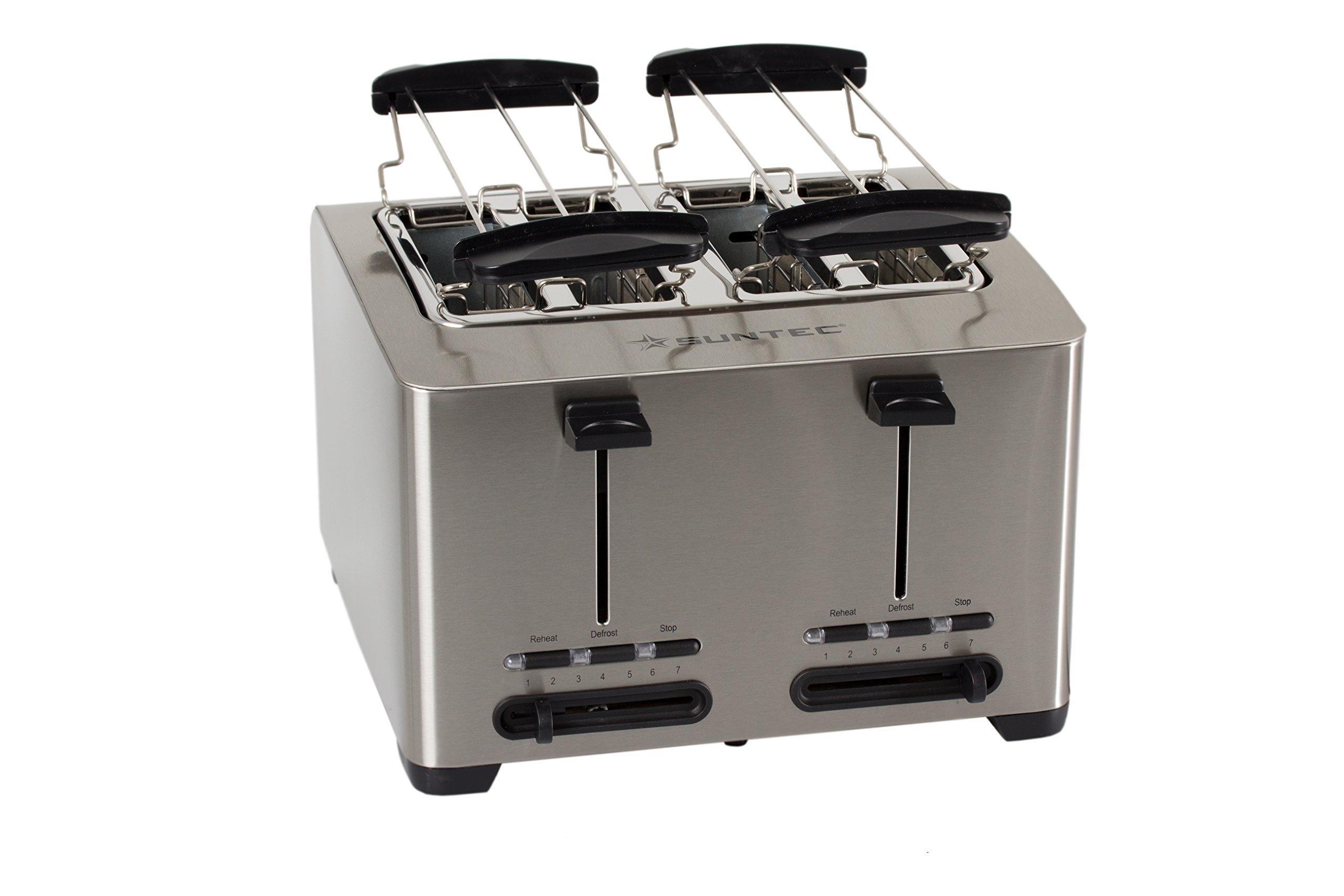 SUNTEC-Toaster-TOA-8083-V2A-4-Schlitz-Toaster-2x-Brtchenaufsatz-variabler-Rstgrad-Krmelschublade-max-1500-Watt