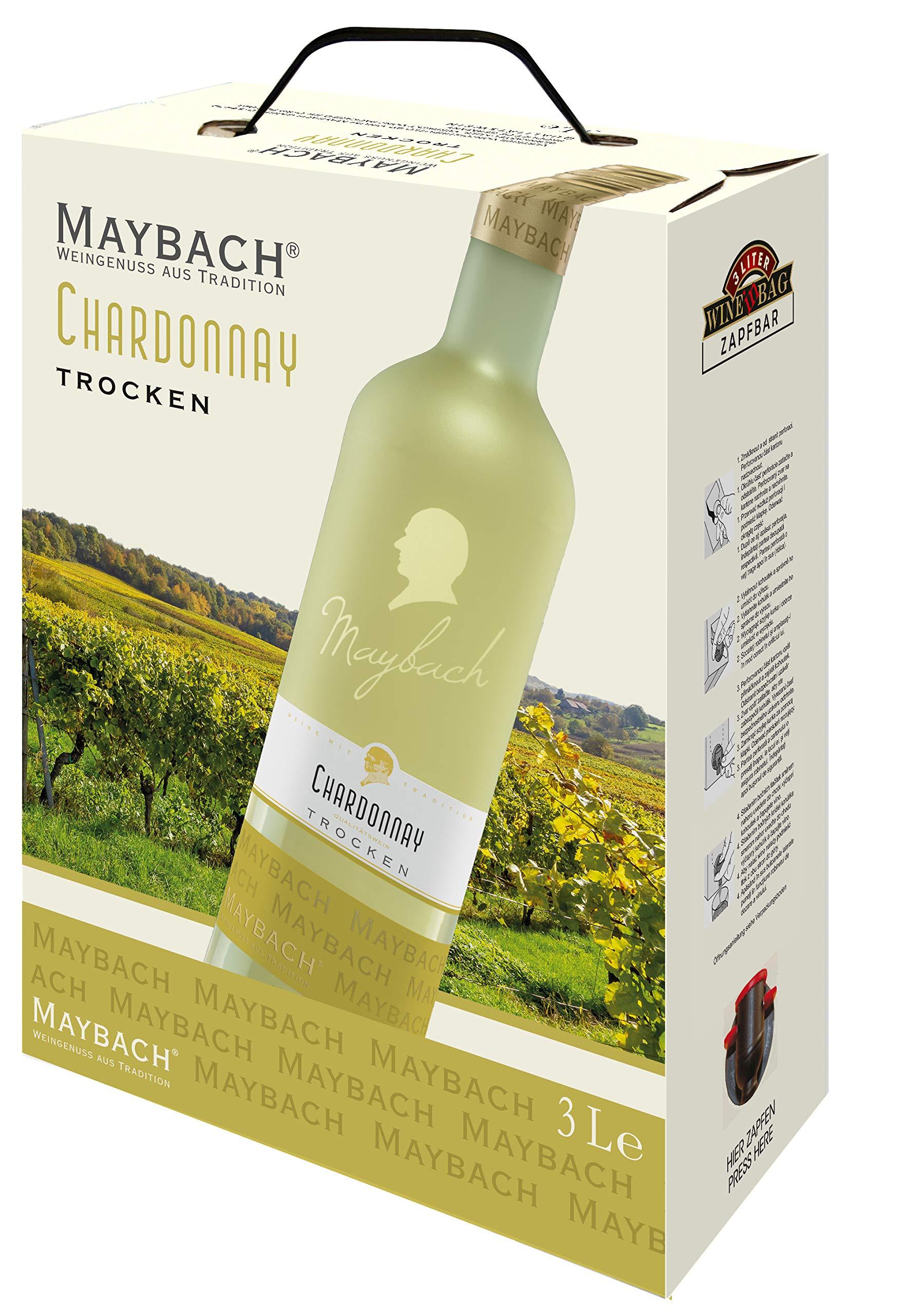 maybach chardonnay trocken (1 x 3 l) bag-in-box | alles über wein