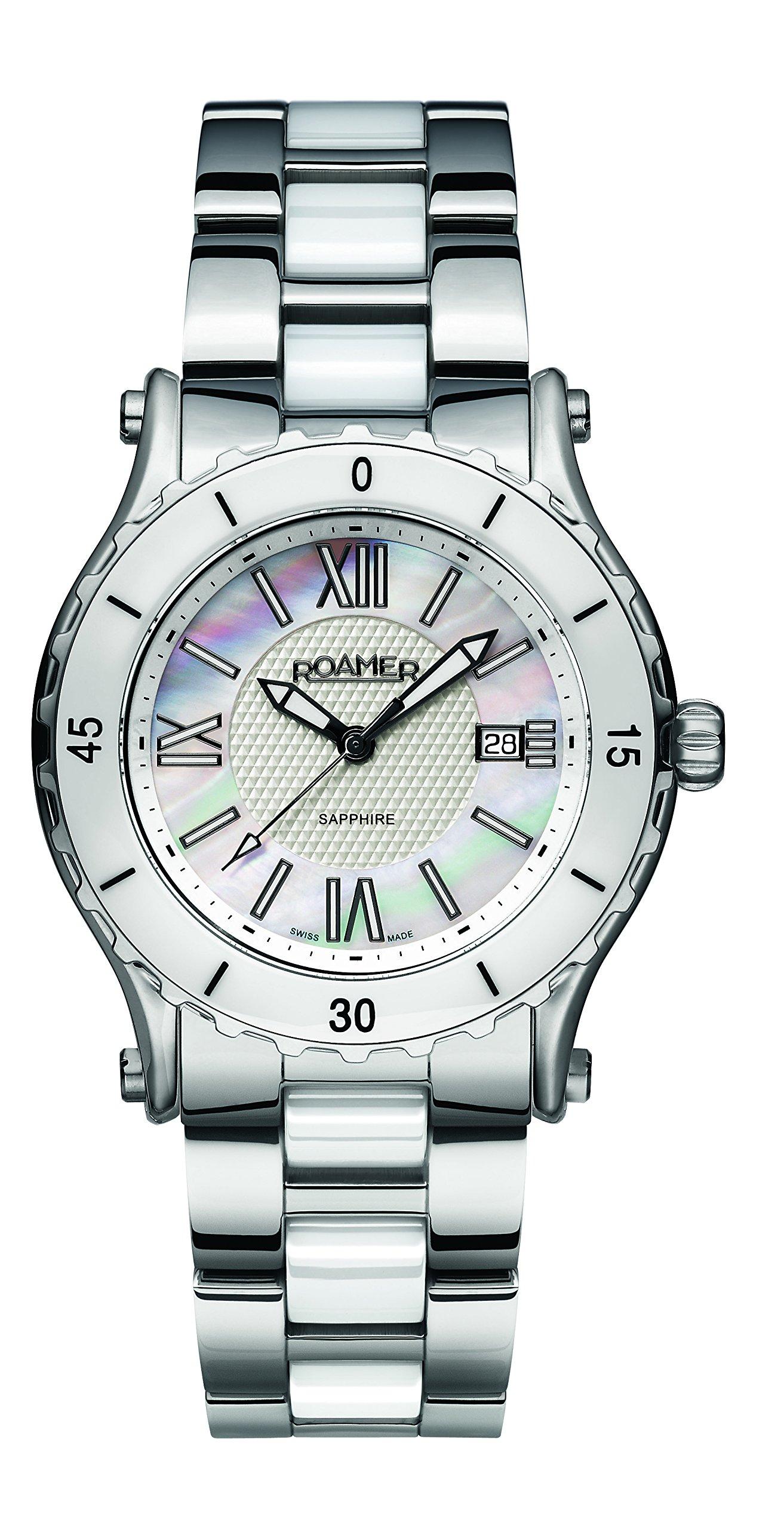 Roamer-Damen-Armbanduhr-C3-Refined-Analog-Quarz-AEU980-4123-PE