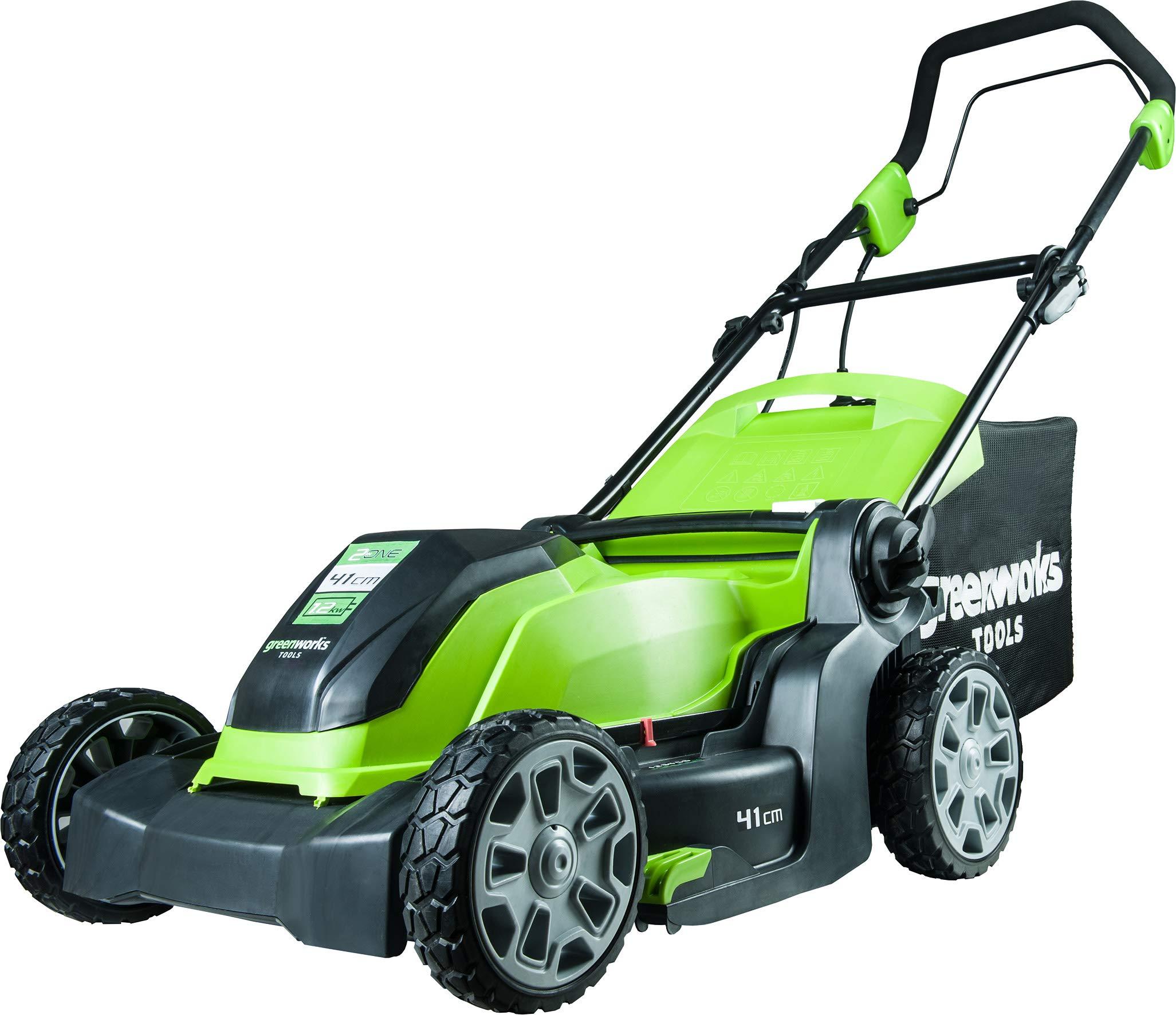 Greenworks-Elektro-Rasenmher-1200-Watt-41cm-Mulchkit-Elektromher-Mulcher