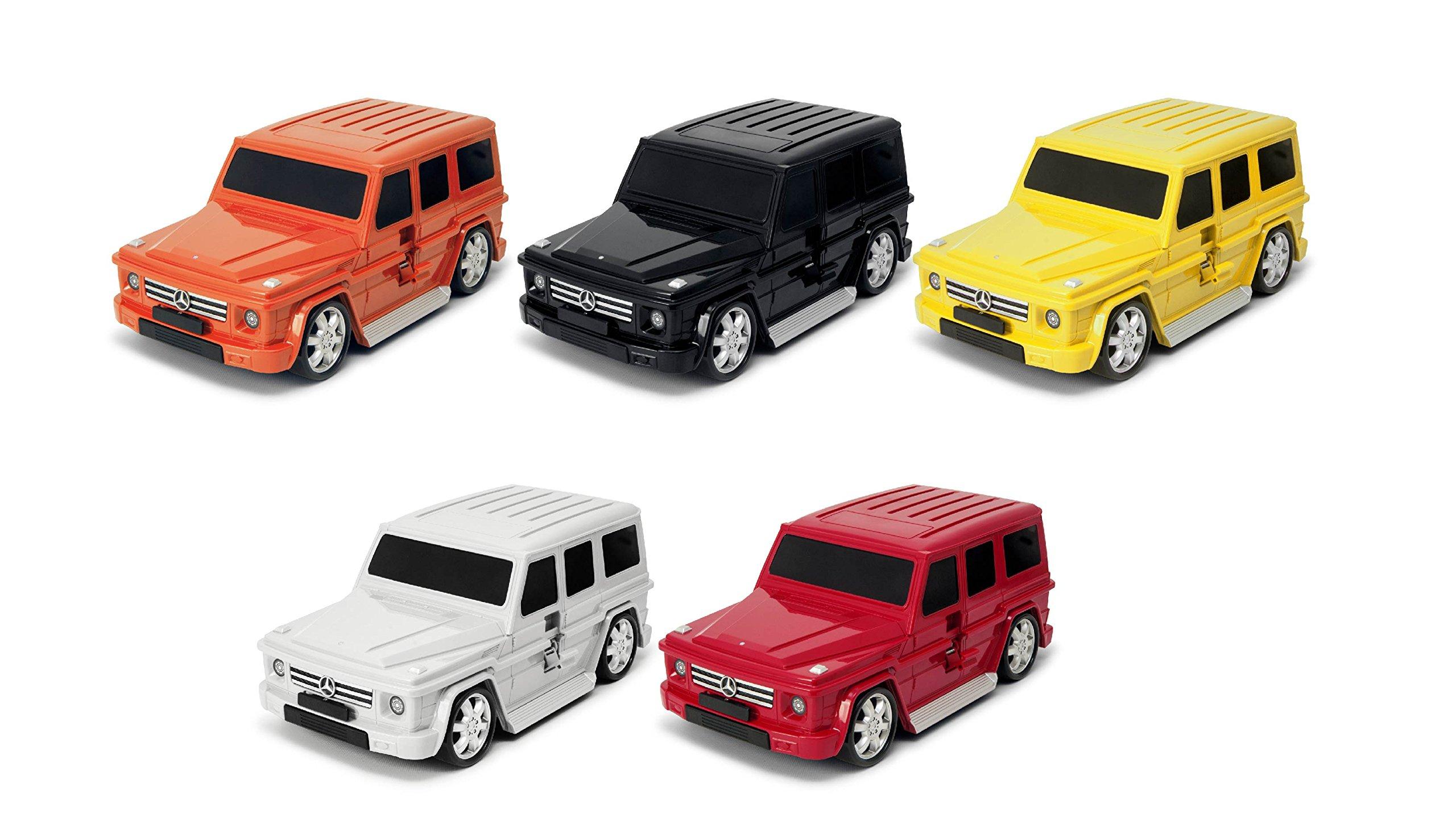 Packenger-Kinderkoffer-Mercedes-G-Klasse-Original-Mercedes-Benz-Lizenzprodukt-Auto-Bordcase-Koffer-mit-Teleskopstange-und-Ziehgurt