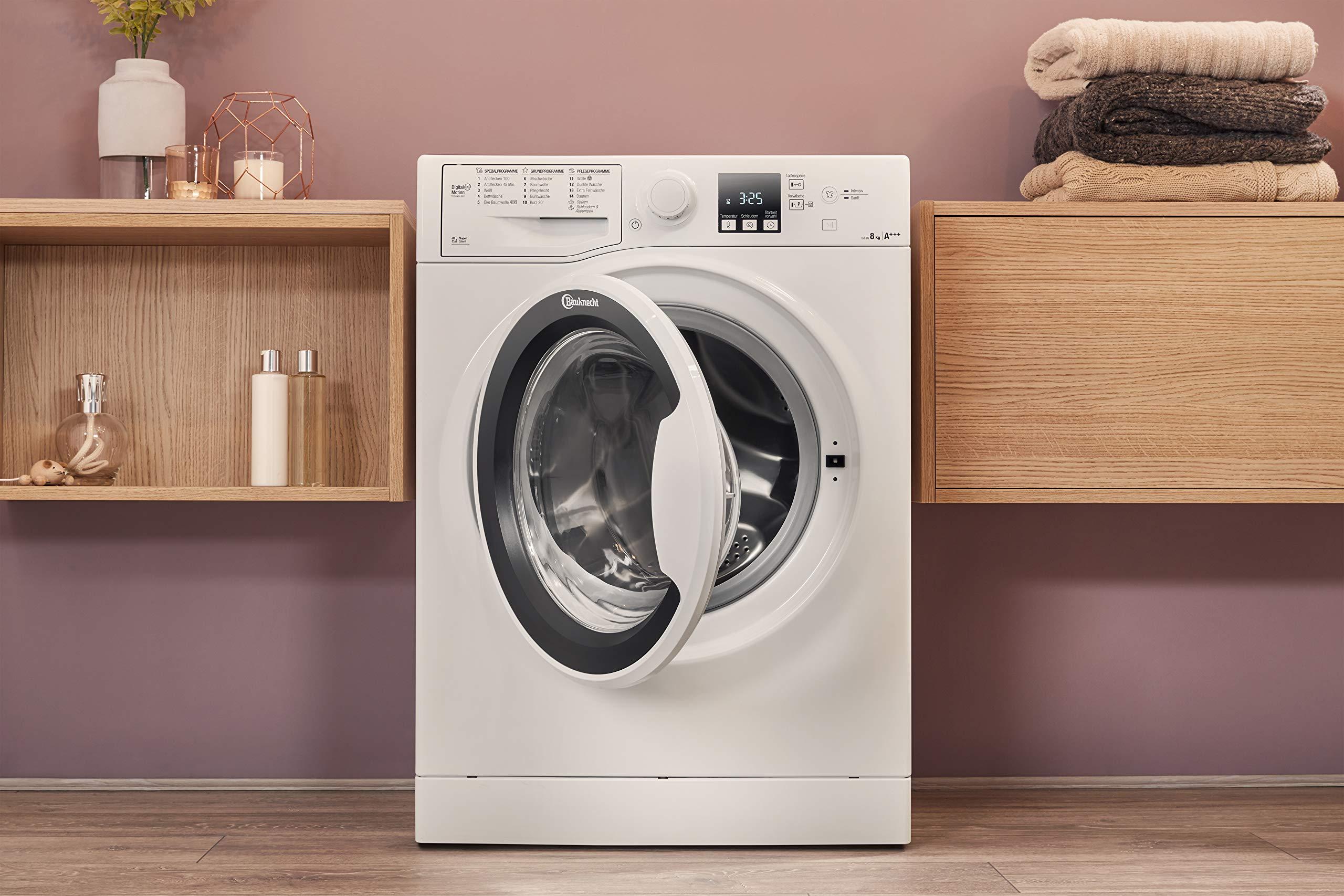 Bauknecht-WA-Soft-8F42PS-Waschmaschine-Frontlader-A-20-1400-UpM-8-kg-Wei-langlebiger-Motor-Nachlegefunktion-Wasserschutz