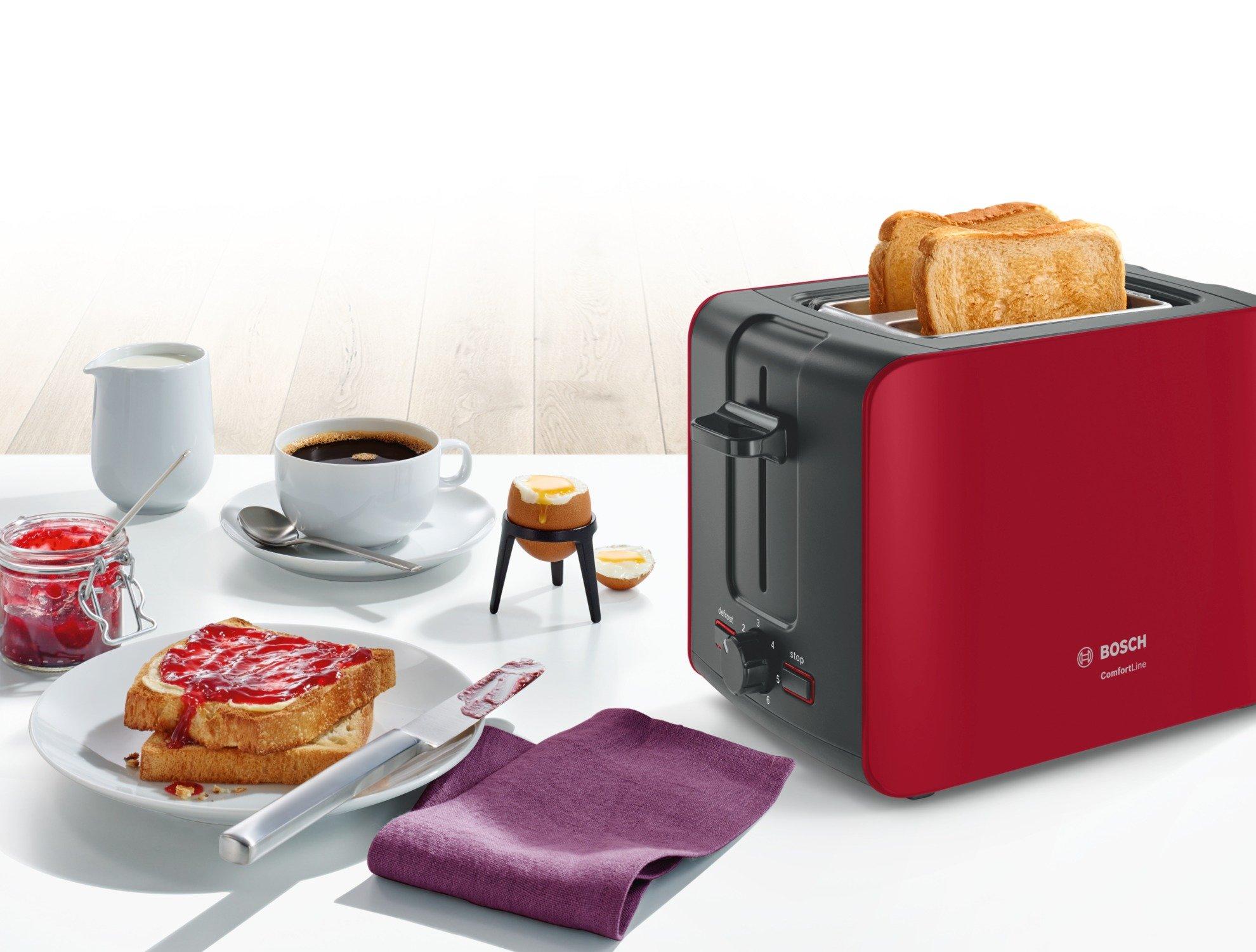 Bosch-TAT6A114-Kompakt-Toaster-ComfortLine-automatische-Brotzentrierung-Auftaufunktion-1090-W-rotanthrazit