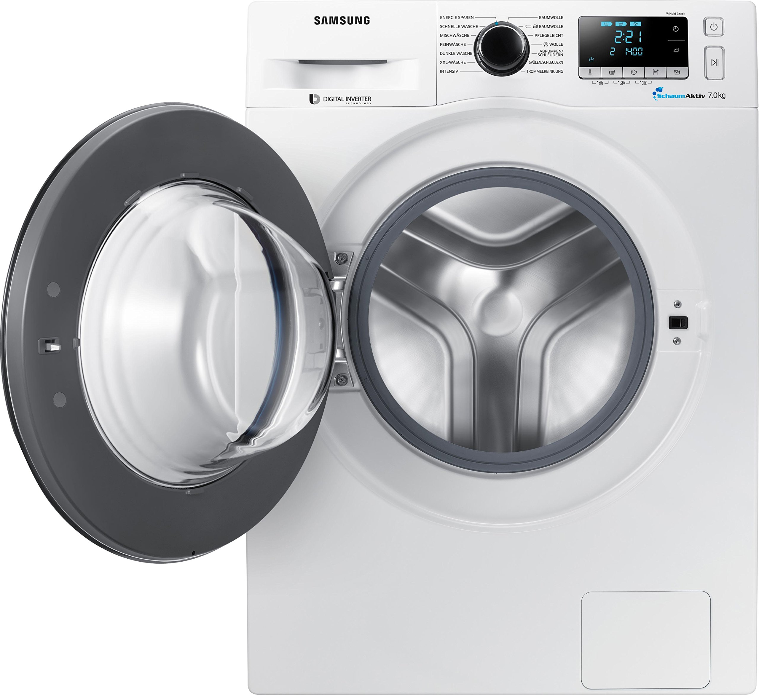 Samsung-WW71J5436FWEG-Waschmaschine-FrontladerA1400-UpMkgSchaumAktiv-TechnologieFleckenIntensivwei