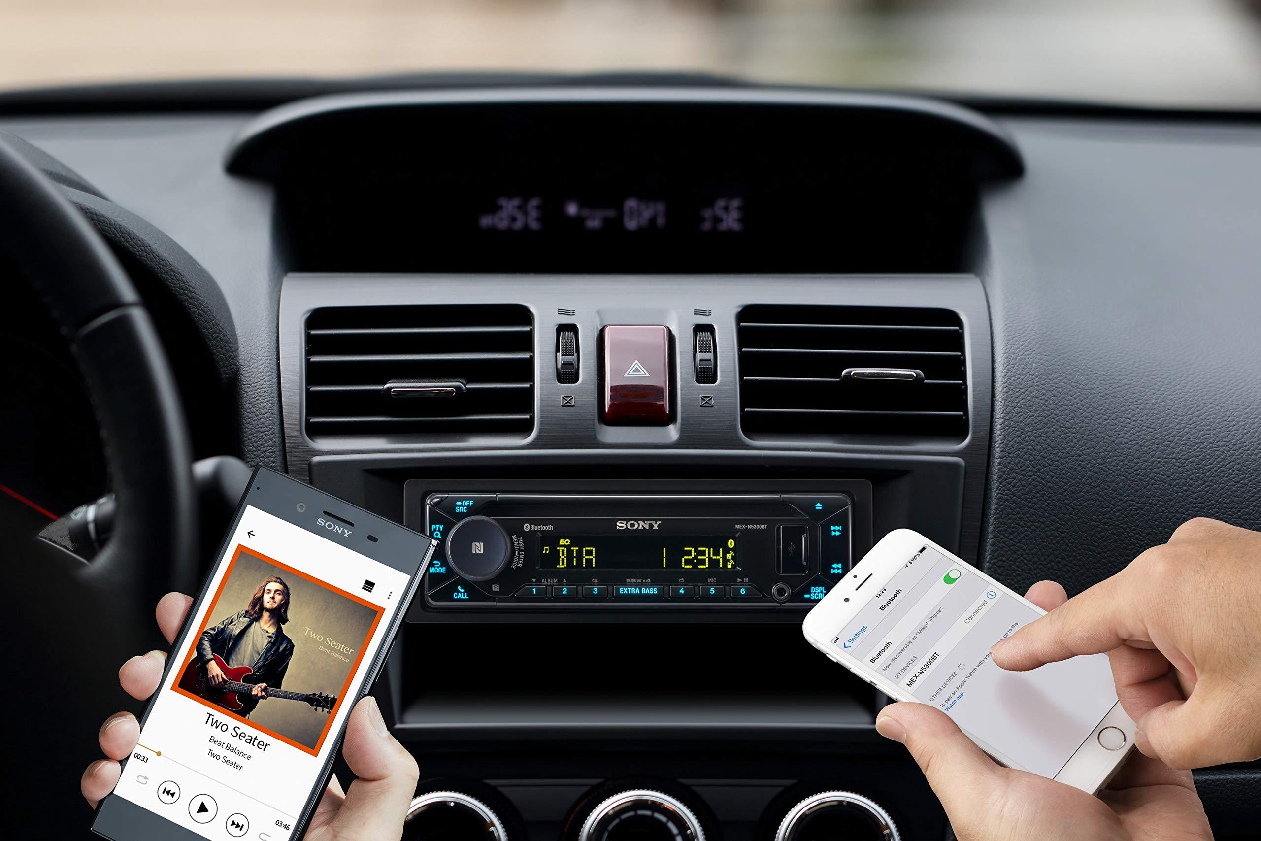 Sony-MEX-N5300BT-Autoradio-mit-CD-Dual-Bluetooth-NFC-USB-und-AUX-Anschluss-35000-Farben-Vario-Color-Freisprechen-Dank-Mikrofon
