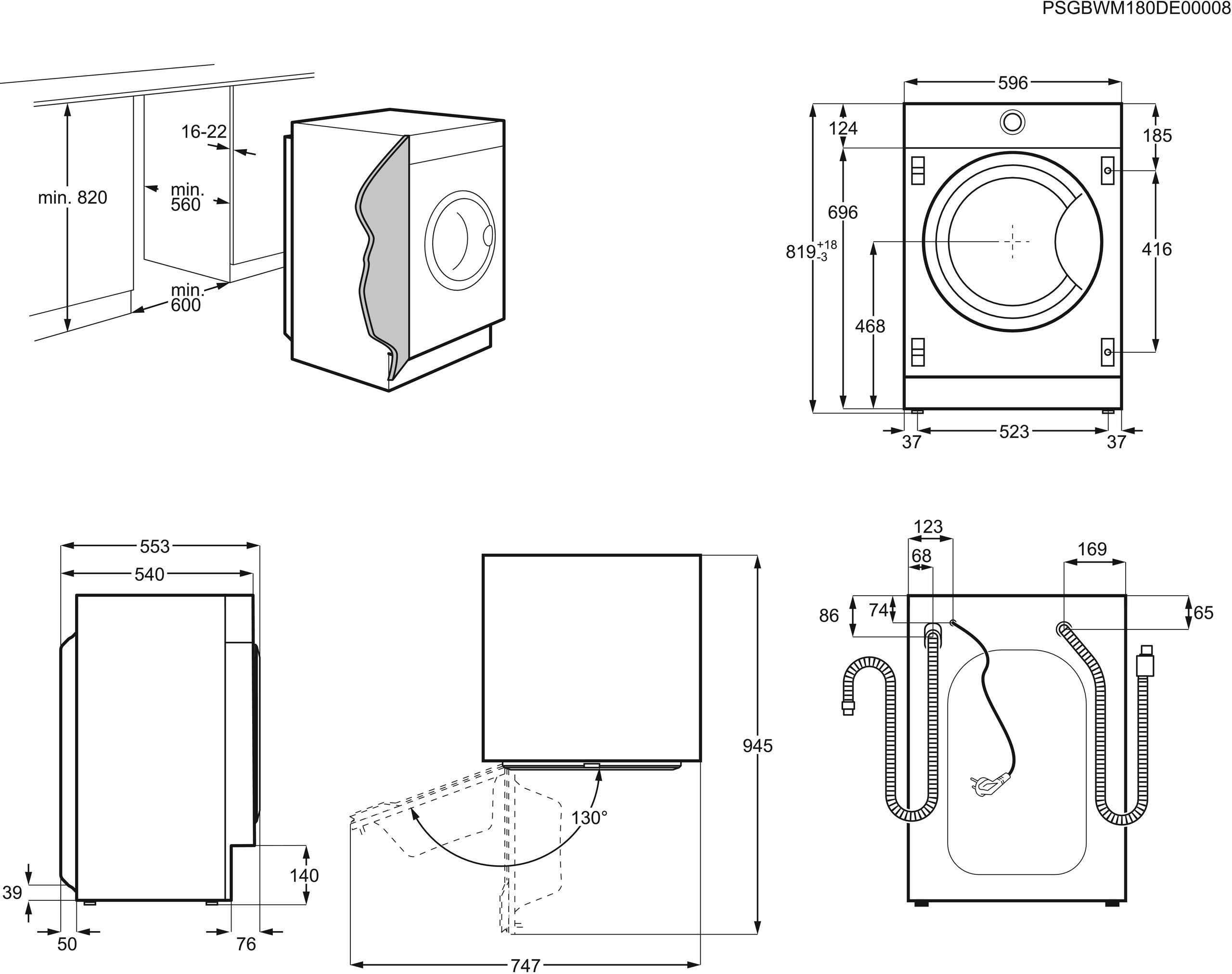 AEG-L7FBI6480-Einbauwaschmaschine-ProSteam-Auffrischfunktion-80-kg-Mengenautomatik-Nachlegefunktion-Kindersicherung-Schontrommel-Allergikerfreundlich-Wasserstopp-1400-Umin