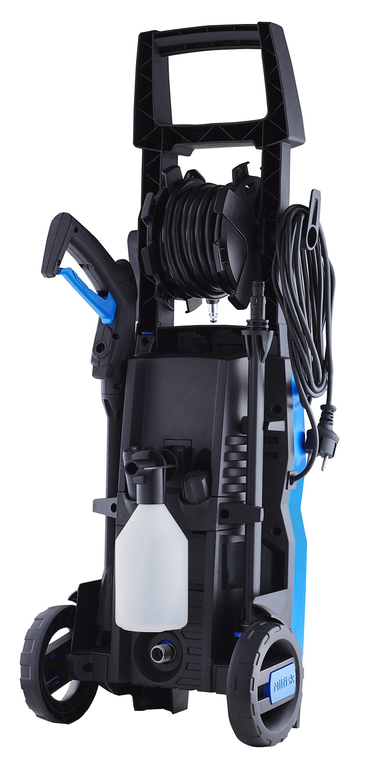 Nilfisk-C-125-bar-Hochdruckreiniger-inklPatio-Cleaner-Flchenreiniger-Universalbrste-und-Rohrreinigungs-Set