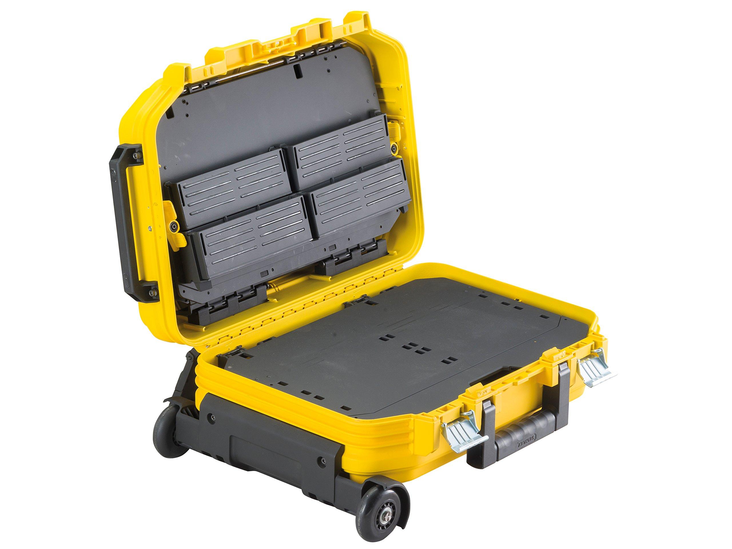 Stanley-FatMax-Werkzeugkoffer-40-x-54-x-235-cm-Werkzeugaufbewahrung-mit-Trolley-und-Teleskophandgriff-fr-Werkzeuge-und-Zubehr-fiberglasverstrkte-Akkordeonstruktur-FMST1-72383
