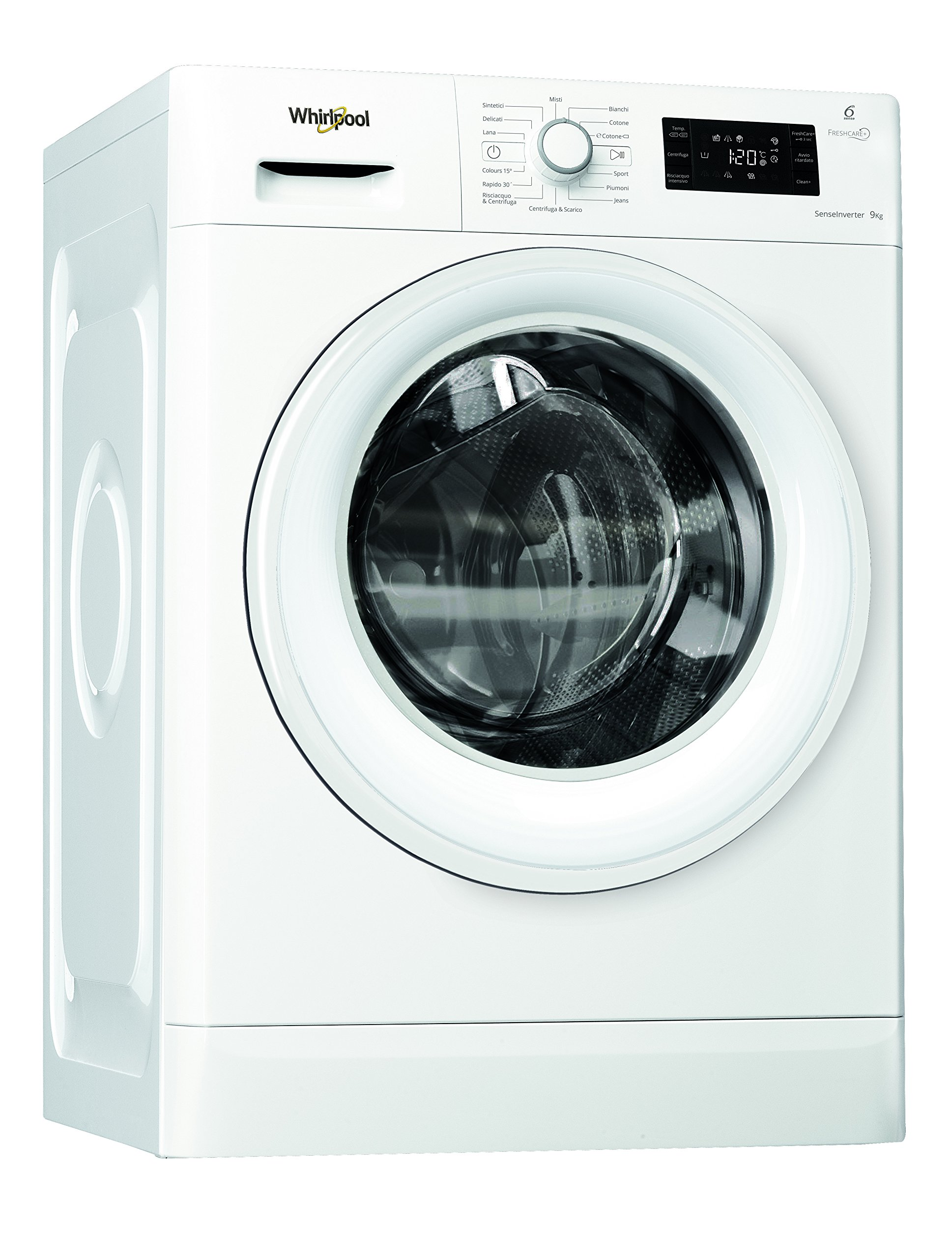 Whirlpool-fwg91284-W-IT-freistehend-geladen-vorne-9-kg-1200-Umin-A-Wei-Waschmaschine