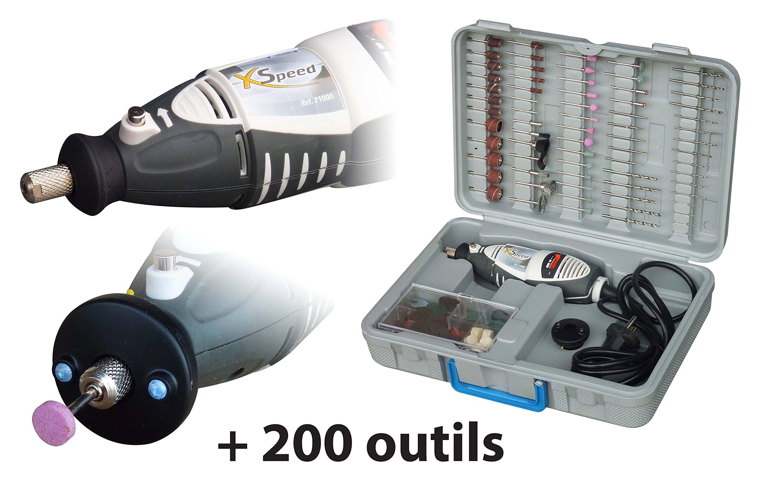 Maxicraft-71200-XSPEED-Bohrmaschine-Przisions-mit-200-Werkzeuge