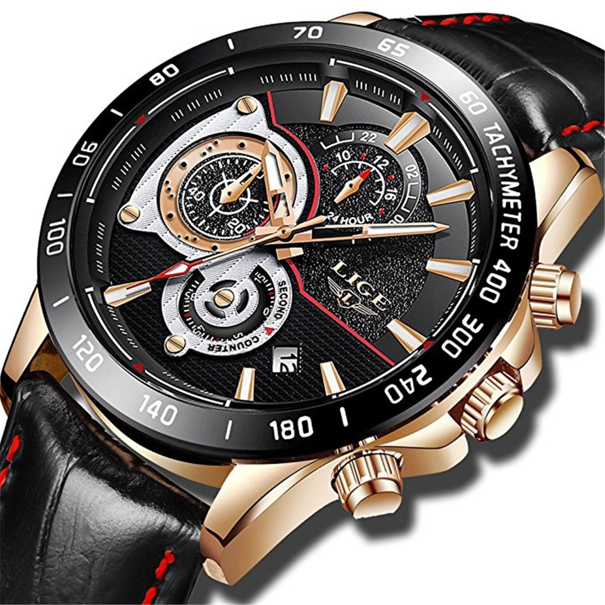 Herren-Uhren-wasserdicht-Chrongraph-Sport-Analog-Quarz-Armbanduhr-Herren-Luxus-Marke-Lige-Fashion-Business-Armbanduhr-Mann-Schwarz-Leder-Uhr