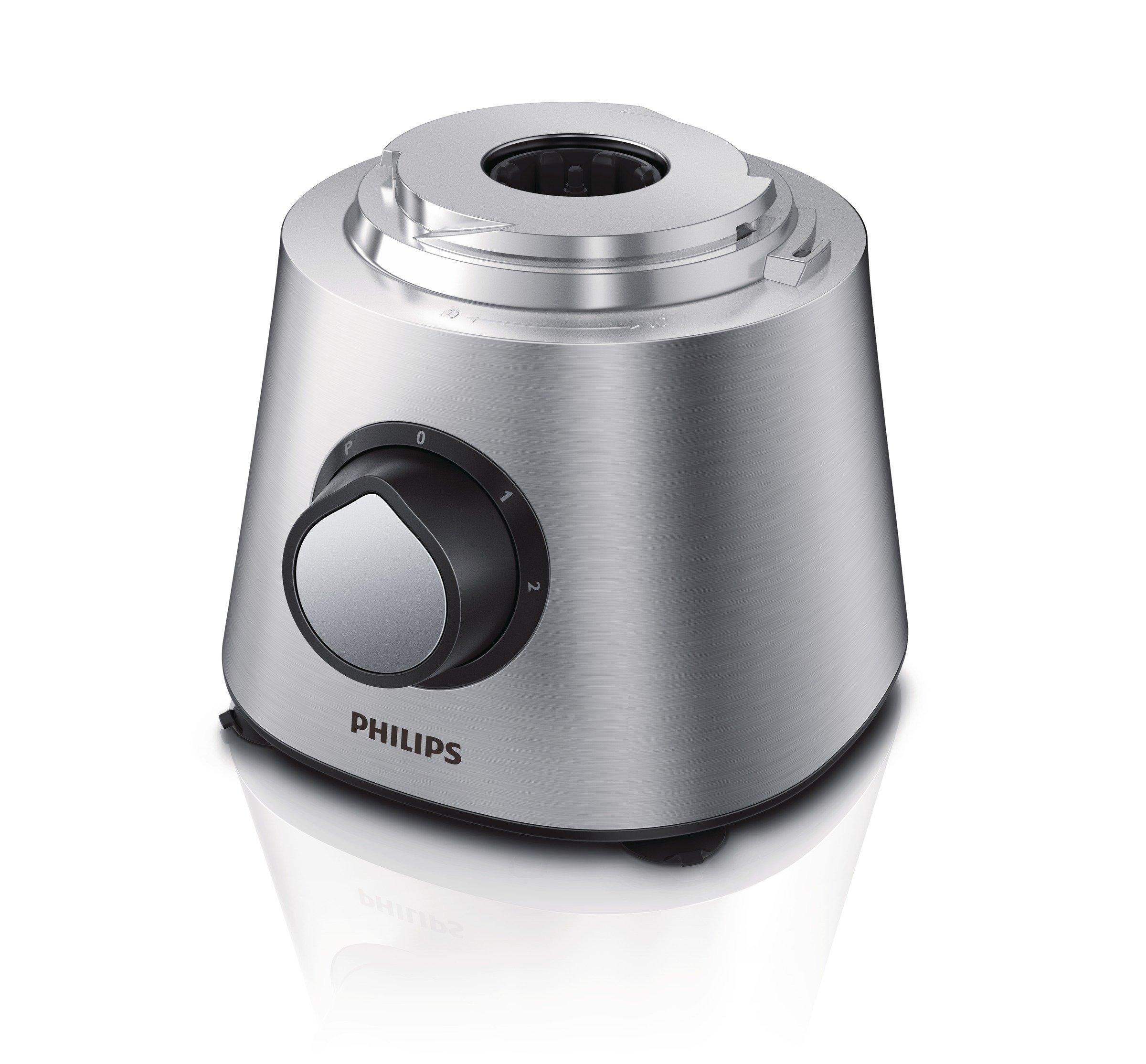 Philips-HR776900-Kchenmaschine-850-Watt-inkl-Knethaken-Standmixer-Mhle-und-Zitruspresse-schwarzsilber