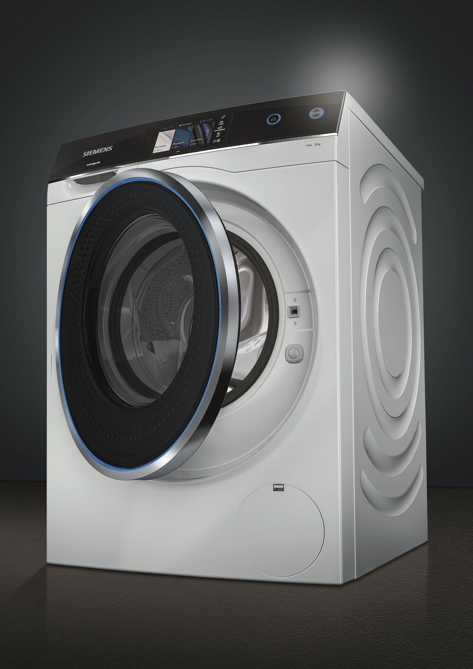 Siemens-avantgarde-WM14U840EU-Waschmaschine-1000-kg-A-143-kWh-1400-Umin-Dosierautomatik-iDos-WLAN-fhig-mit-Home-Connect-Automatische-Fleckenautomatik