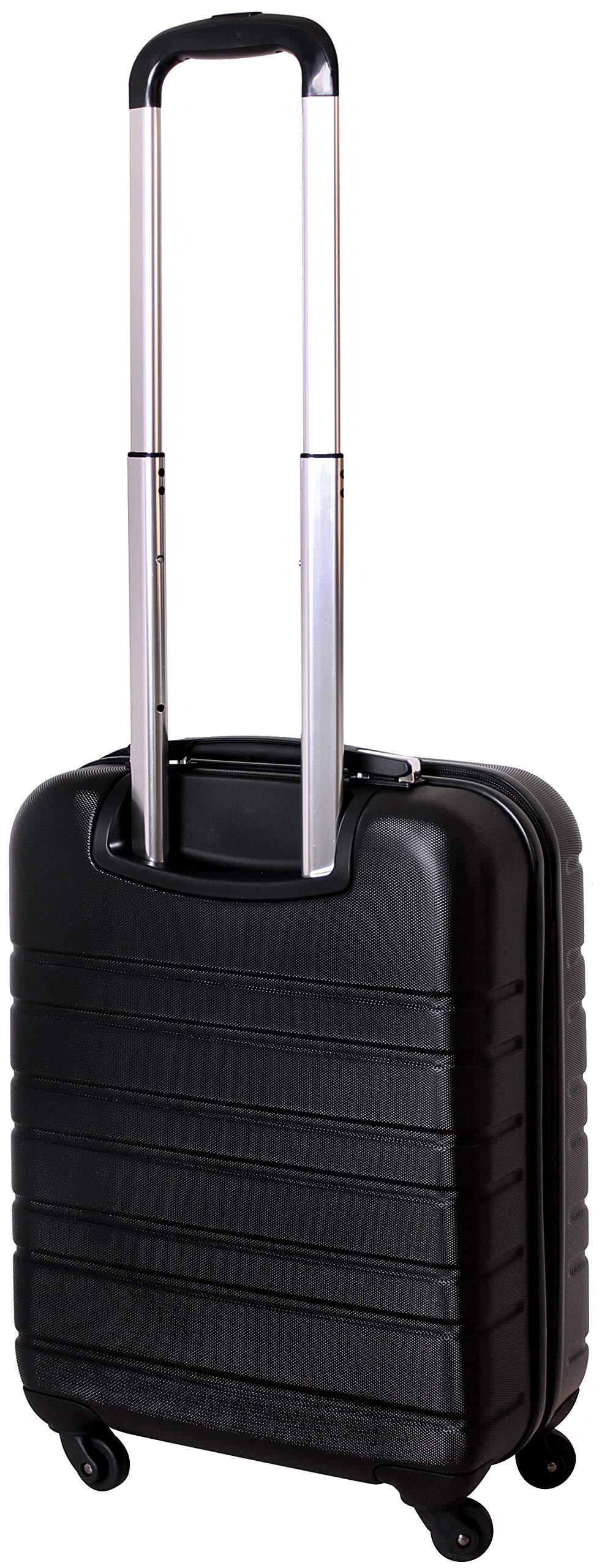 Karry-Handgepck-Bordgepck-Hartschalen-Koffer-fr-Kurzreisen-Urlaub-Reisen-Businesskoffer-Trolley-Case-TSA-Schloss-30-Liter-Schwarz-815-B