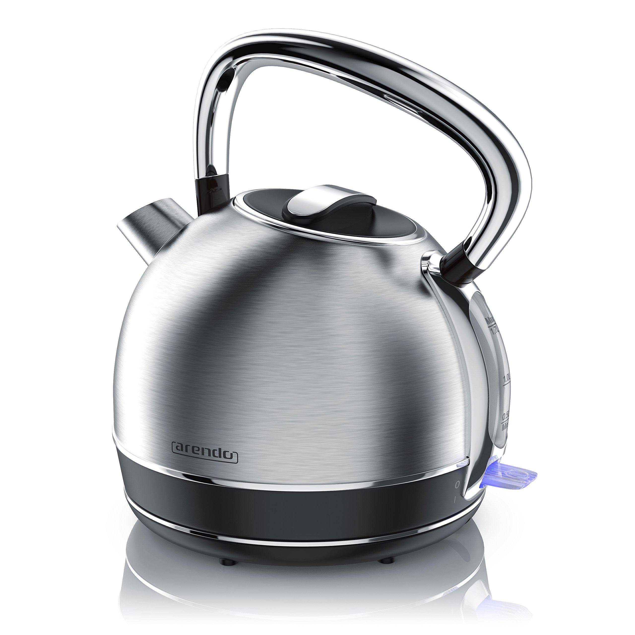 Arendo-Retro-Edelstahl-WasserkocherTeekessel-im-Vintage-Style-max-2200-Watt-austauschbarer-Kalkfilter-Fllmenge-max-17-Liter-automatische-Abschaltung-Silber-Edelstahl-gebrstet