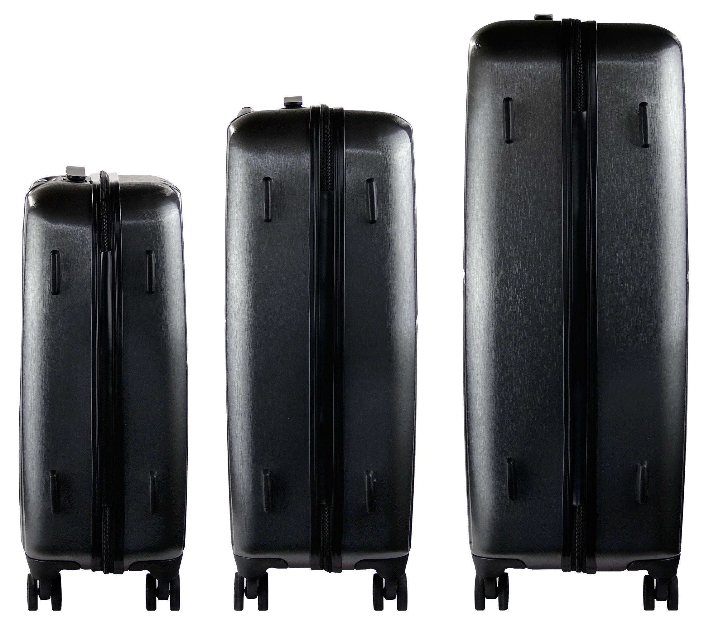 Bugatti-Hartschalen-Kofferset-Janus-S-M-L-4-Rollen-3er-Reisekoffer-Set-Schwarz-mit-TSA-Zahlenschloss