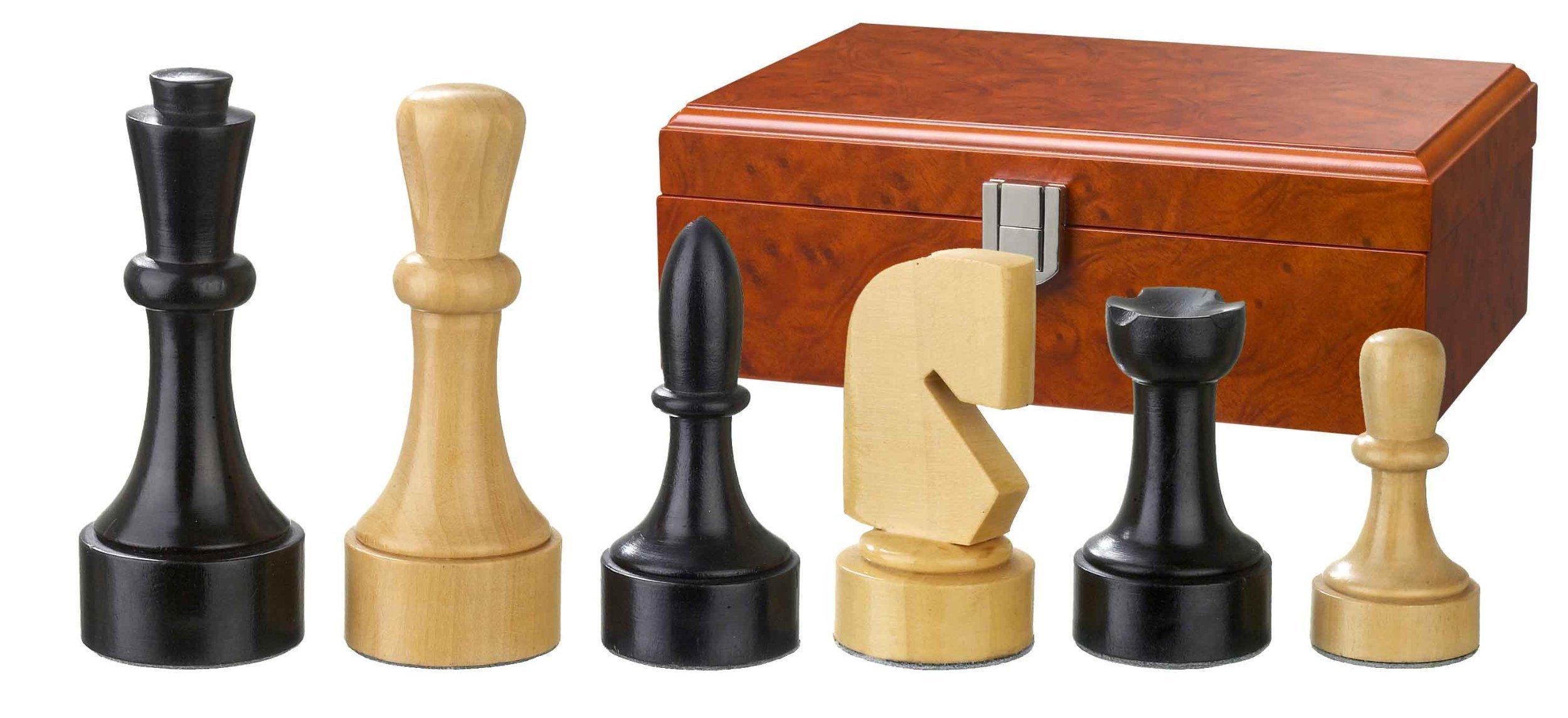 Philos-2150-Schachfiguren-Romulus-Knigshhe-95-mm-doppelt-gewichtet-in-Figurenbox