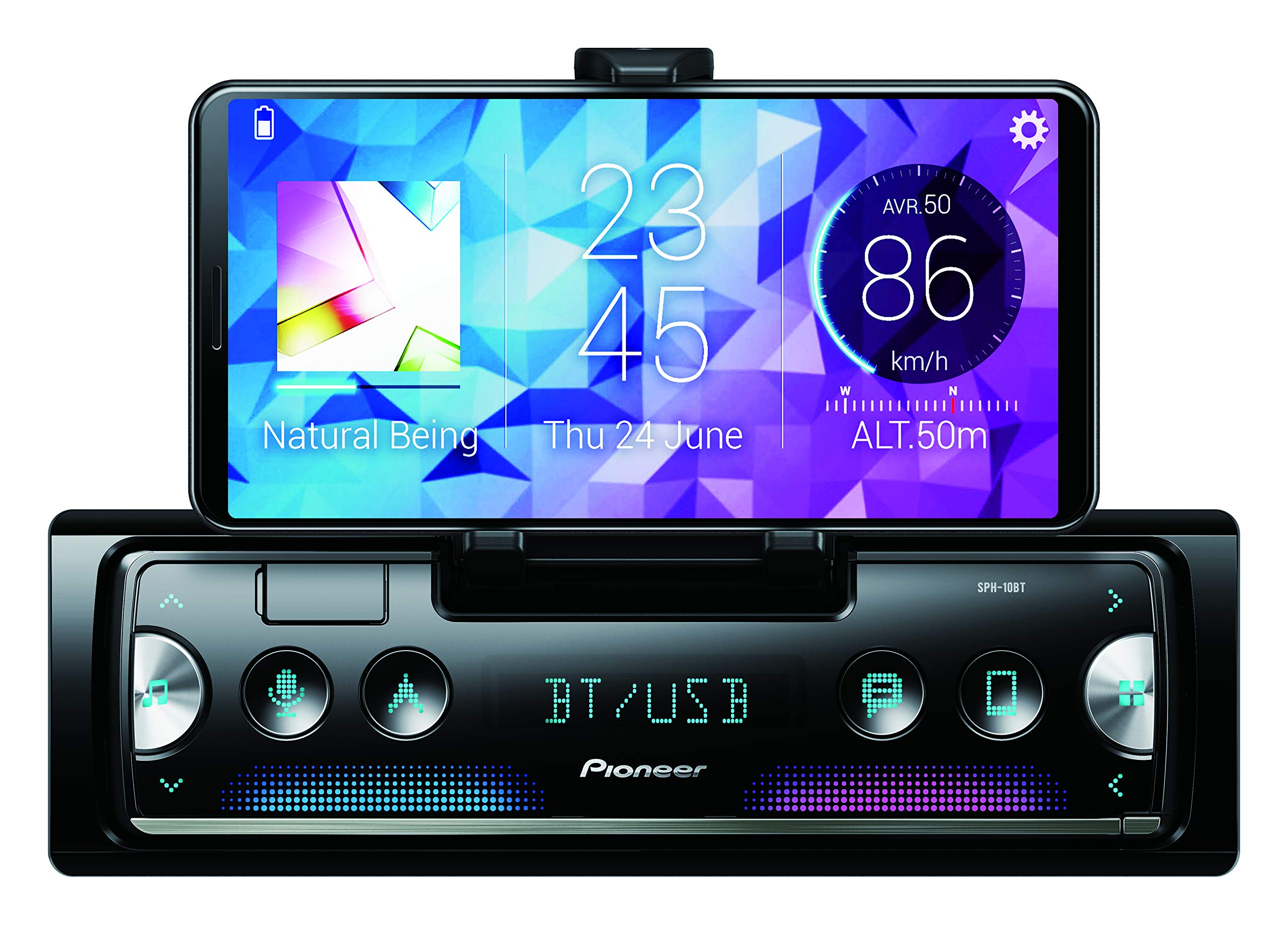 Pioneer-SPH-10BT-Auto-Media-Receiver-Schwarz-Silber-1-DIN-200-W-40-Kanle-50-W-Android-iOS