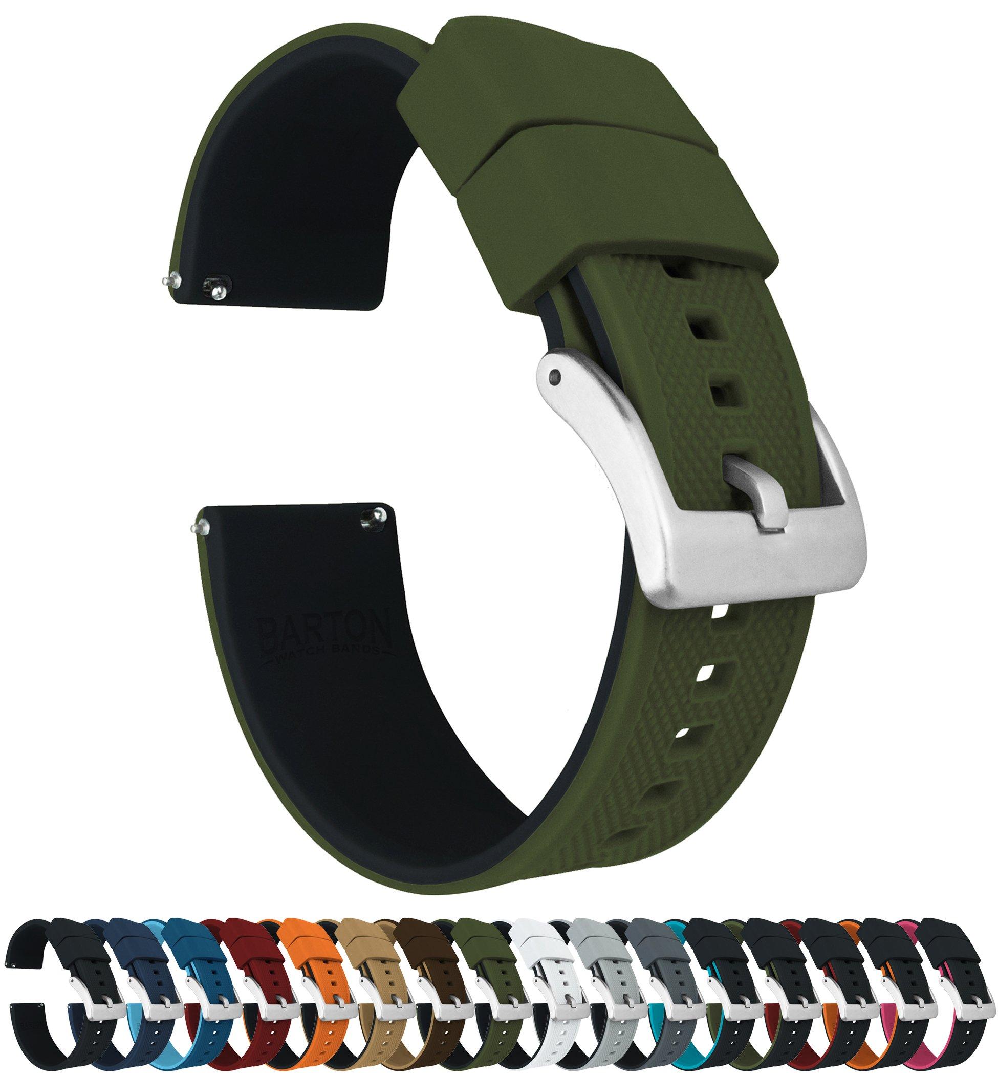 Barton-Elite-Silikon-Uhrenarmbnder–Schnellverschluss–whlen-Sie-Farbe–18-mm-20-mm-und-22-mm-Uhrenarmbnder