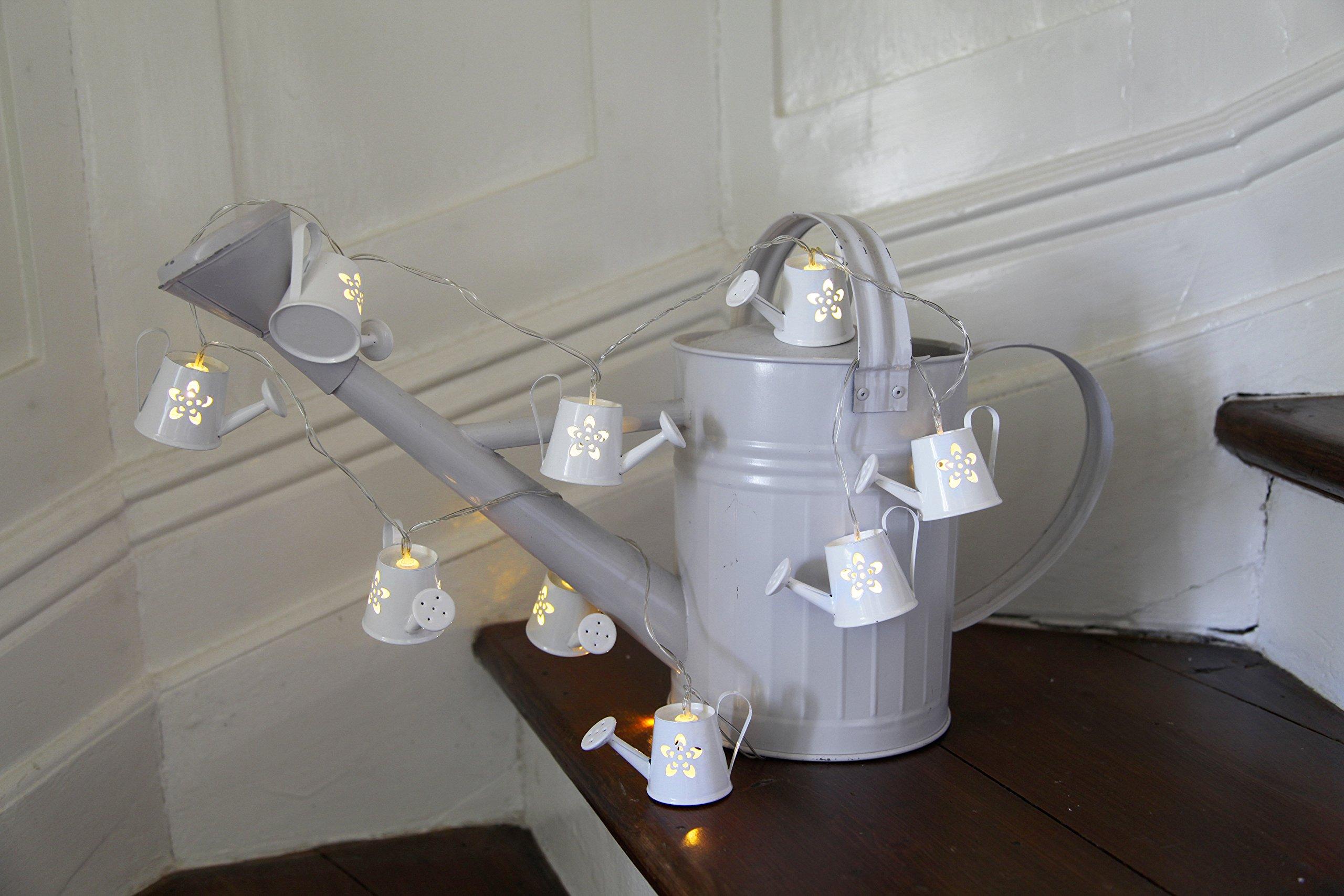 LED-Lichterkette-Water-Cans-8-warmwhite-LED-weisse-Giekannen-Lnge-ca-140-m-Timer-Batterie