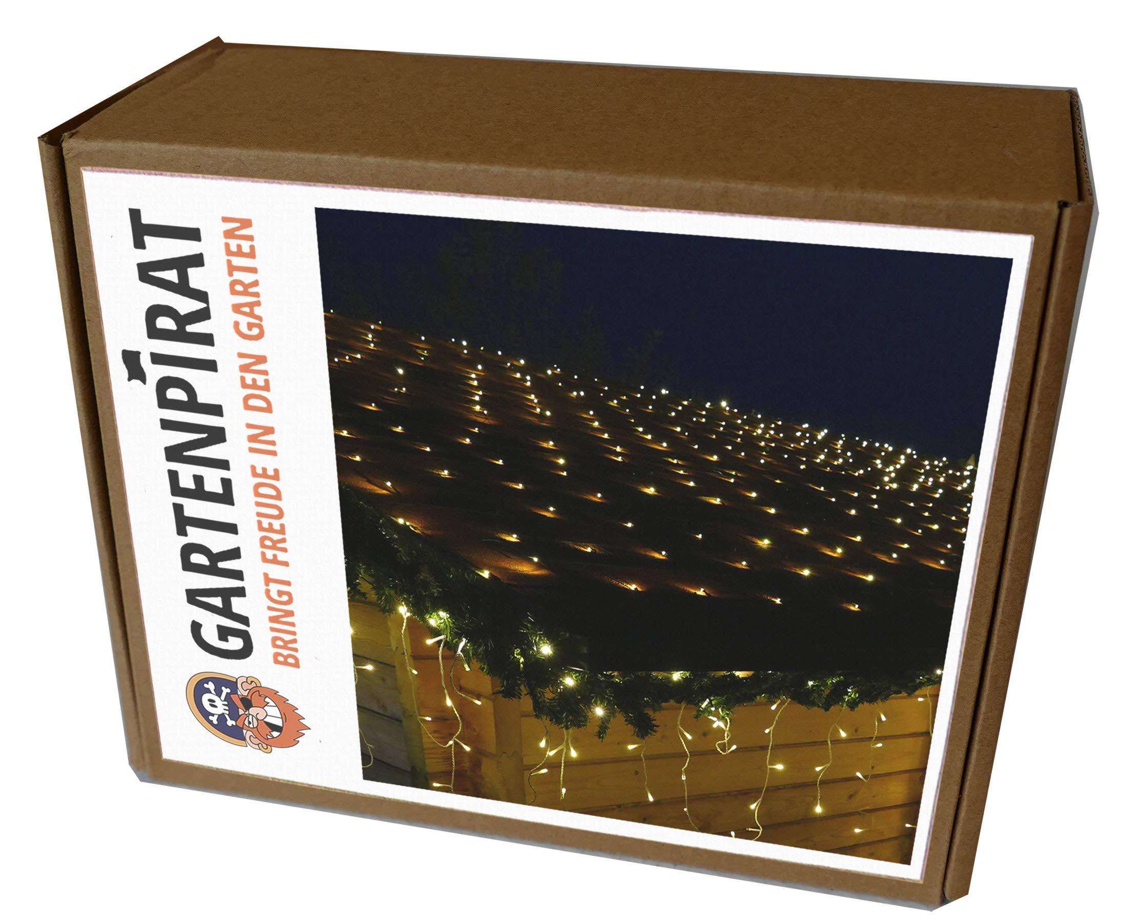 LED-Lichternetz-2x2m-160-LED-Lichterkette-Netz-2-x-2-m-warmwei-Kabel-grn-innen-auen