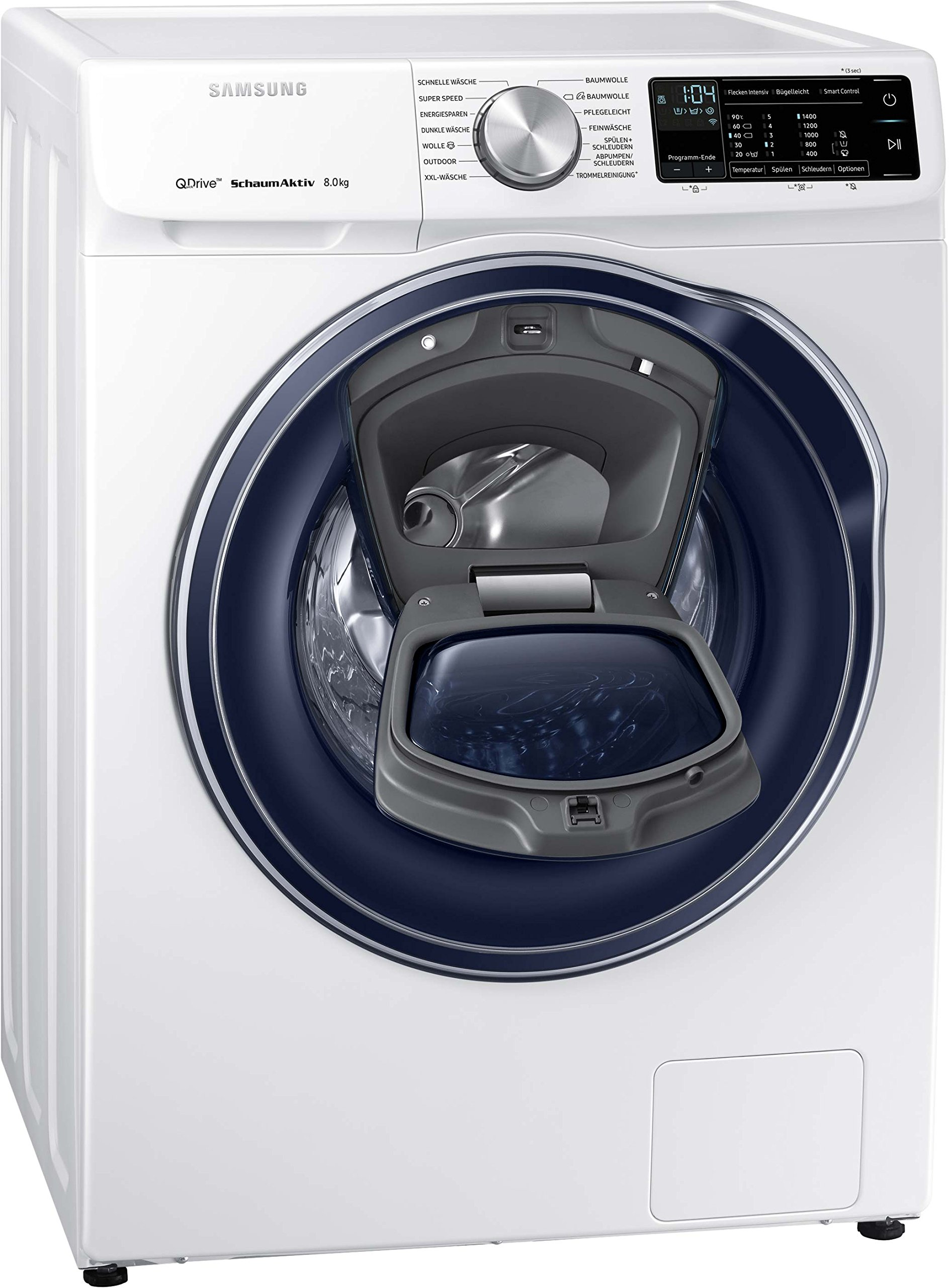 Samsung-WW6800-QuickDrive-WW81M642OPWEG-Waschmaschine-Frontlader-A-1400UpM-8kg-AddWash-SchaumAktiv-Technologie-FleckenIntensiv-Option-SmartControl-20Amazon-Dash-Replenishment-fhig