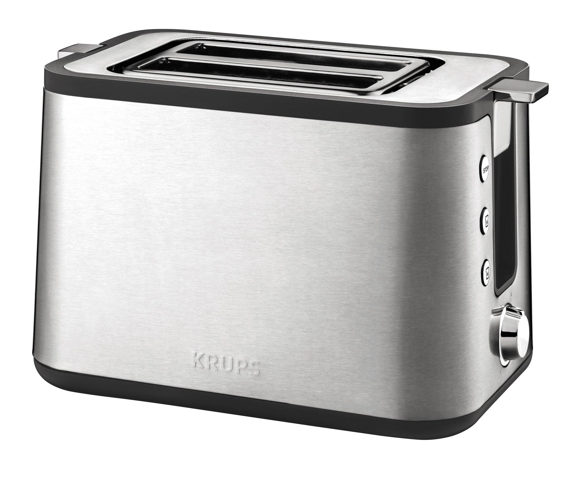 Krups-KH442D10-Control-Line-Premium-Toaster-mit-6-Brunungsstufen-720-Watt-edelstahlschwarz