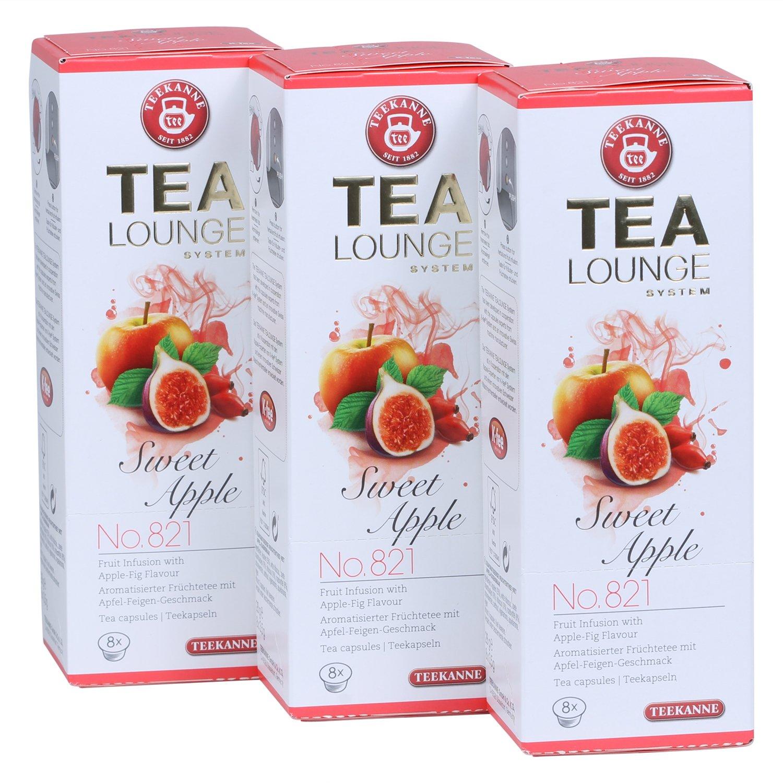 Teekanne-Tealounge-Kapseln-Sweet-Apple-No-821-Frchtetee-3x-8-Kapseln