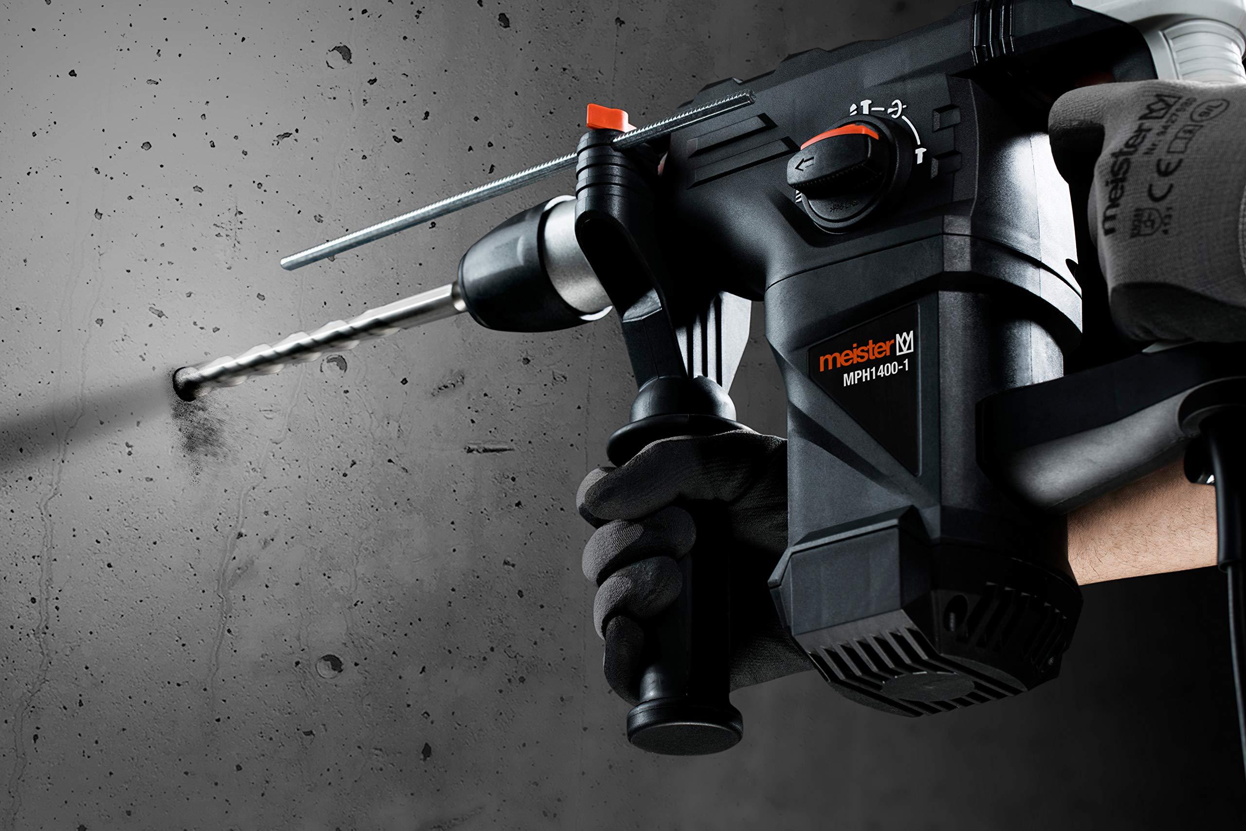 Meister-Pneumatischer-Bohrhammer-1400-Watt-MPH1400-1-SDS-Plus-Aufnahme-5-Joule-Schlagenergie-Antivibrationsgriff-Tiefenanschlag-Bohrmaschine-mit-Hammerwerk-Kombihammer-im-Koffer-5452820