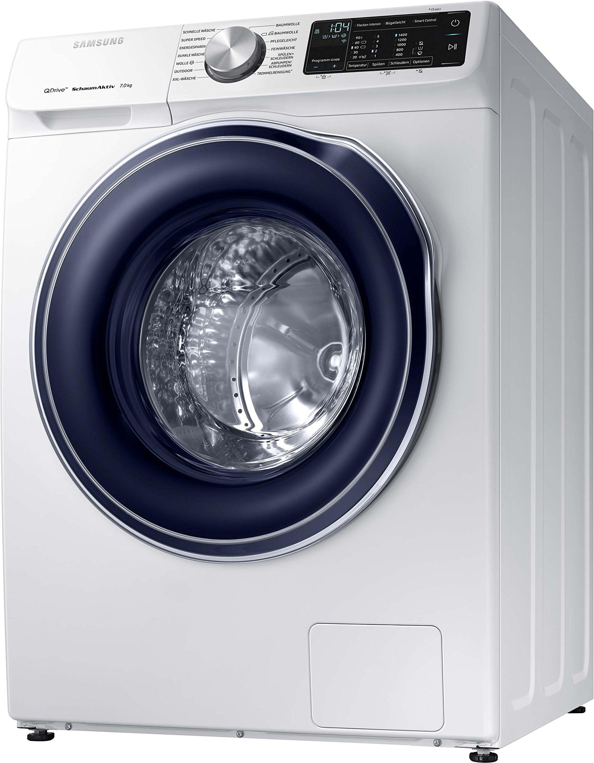 Samsung-WW6600-WW70M642OBWEG-Waschmaschine-Frontlader-1400Umin-QuickDrive-Technologie-SchaumAktiv-Technologie-Wei-Amazon-Dash-Replenishment-fhig