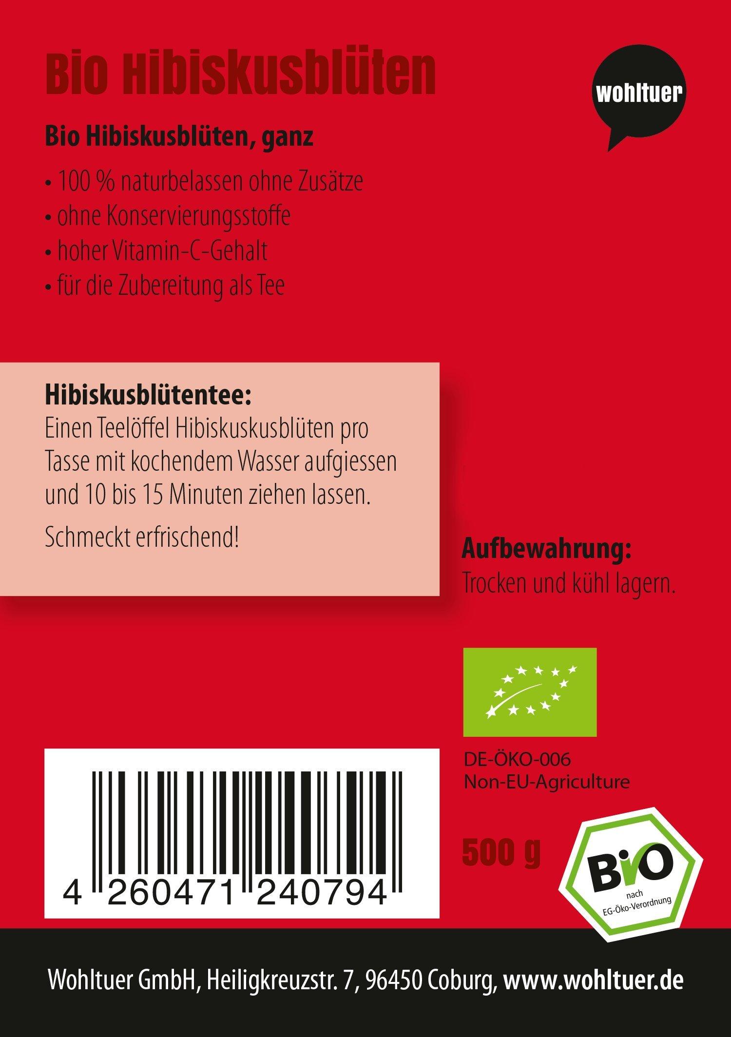 Wohltuer-Bio-Hibiskusblten-500g-I-Fair-gehandelt-Ganze-Hibiskusblten-aus-gypten-I-Natur-pur-Ohne-Zusatzstoffe-I-Fr-Hibiskusblten-Tee-I-Abgefllt-und-kontrolliert-in-Deutschland-DE-KO-006