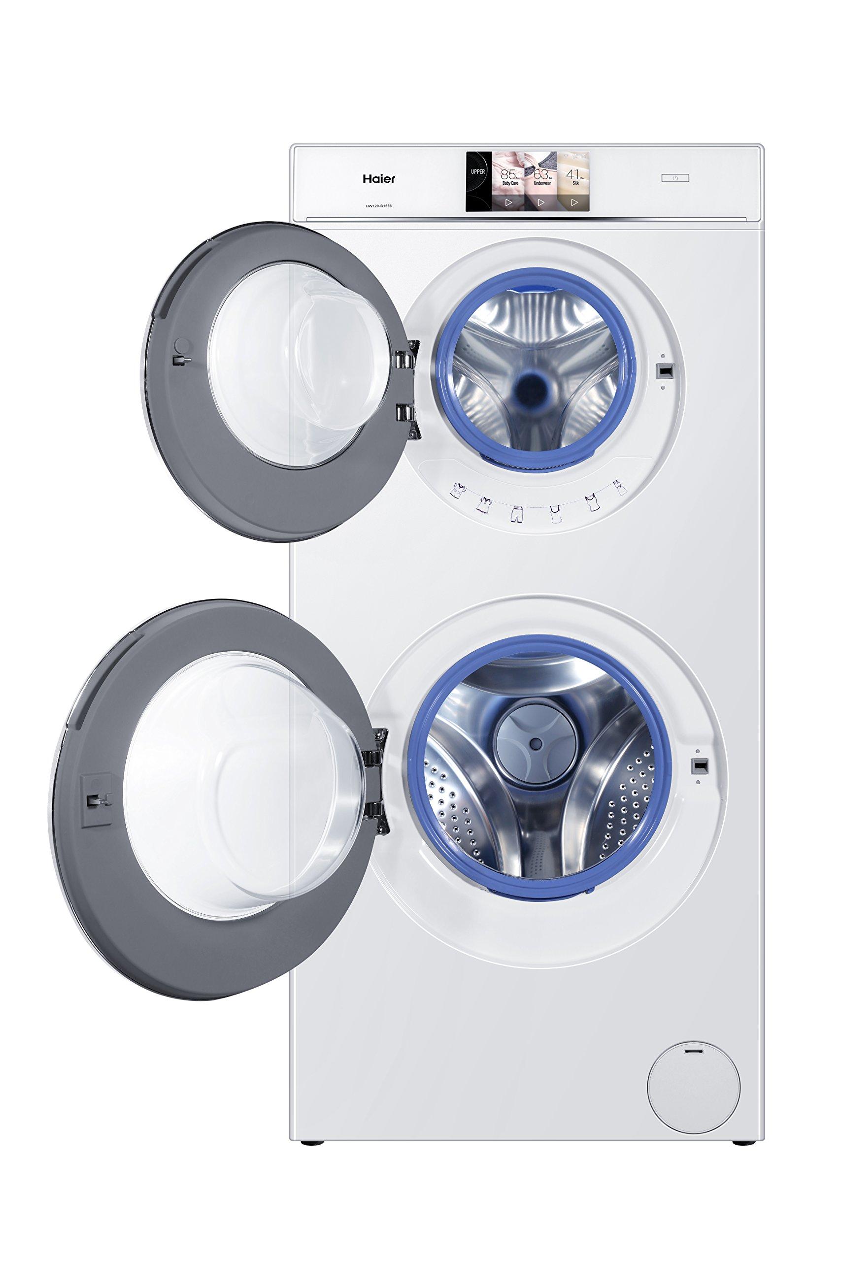 Haier-HW120-B1558-Waschmaschine-FLA-198-kWhJahr-1500-UpM-12-kg-2-Trommeln-gleichzeitiges-Waschenwei