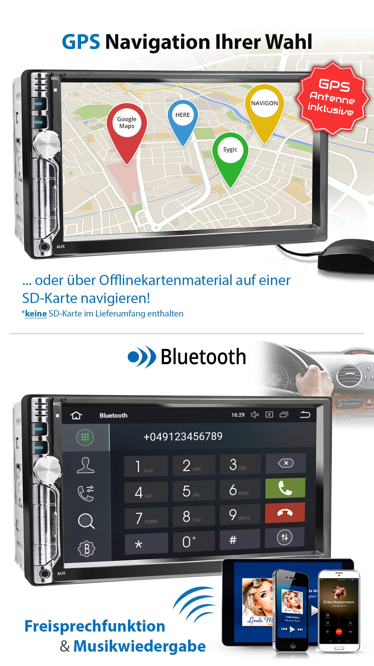 XOMAX-XM-2VA756-Autoradio-mit-Android-81-QuadCore-2GB-RAM-16GB-ROM-GPS-Navigation-I-Support-WiFi-WLAN-3G-4G-DAB-OBD2-I-Bluetooth-7-Zoll-18-cm-Touchscreen-USB-SD-AUX-2-DIN