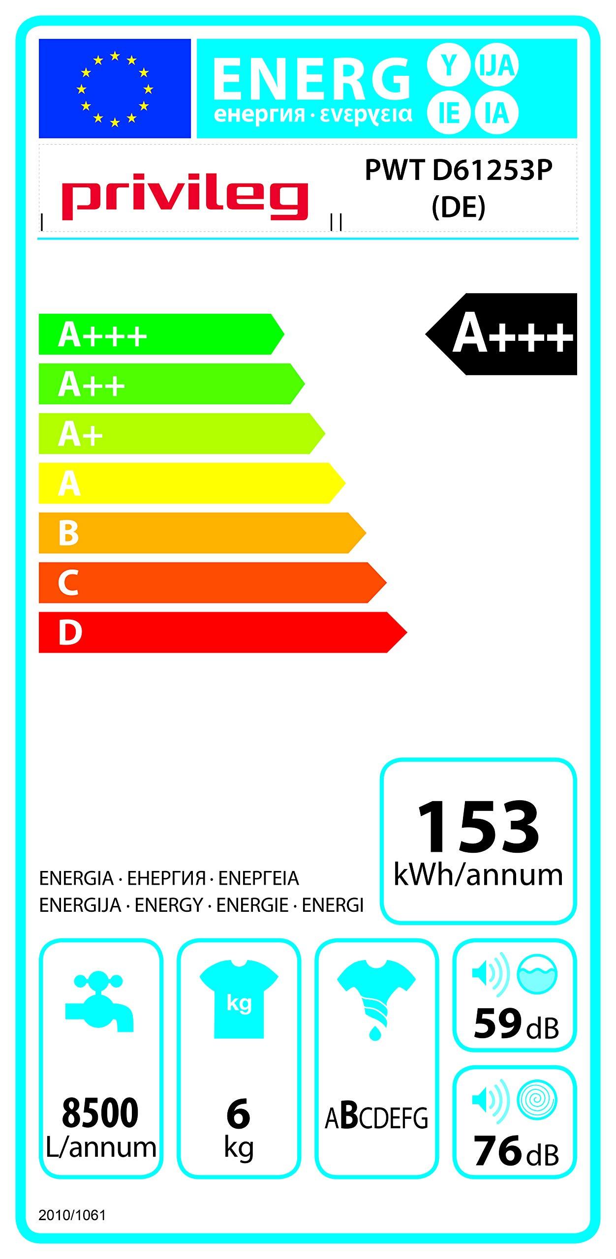 Privileg-PWT-D61253P-DE-Toplader-WaschmaschineA-6-kg-1200-UpMStartzeitvorwahlExtra-WaschenExtra-SplenWolle-ProgrammWasserschutzRapidWash-Programme-unter-59-Minuten