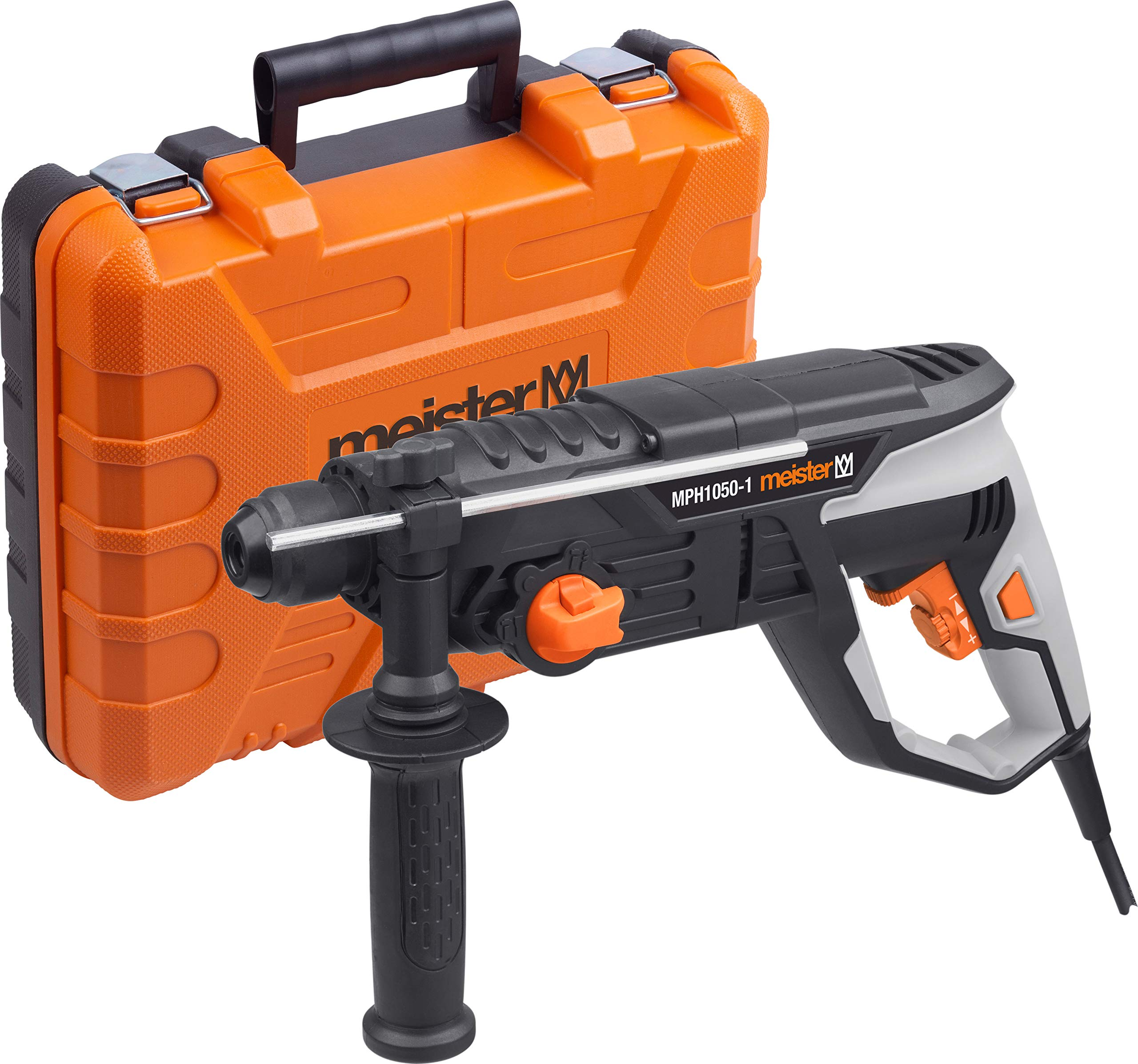 Meister-Pneumatischer-Bohrhammer-1050-Watt-MPH1050-1-SDS-Plus-Aufnahme-3-Joule-Schlagenergie-Tiefenanschlag-Bohrmaschine-mit-Hammerwerk-Kombihammer-im-Koffer-5452810