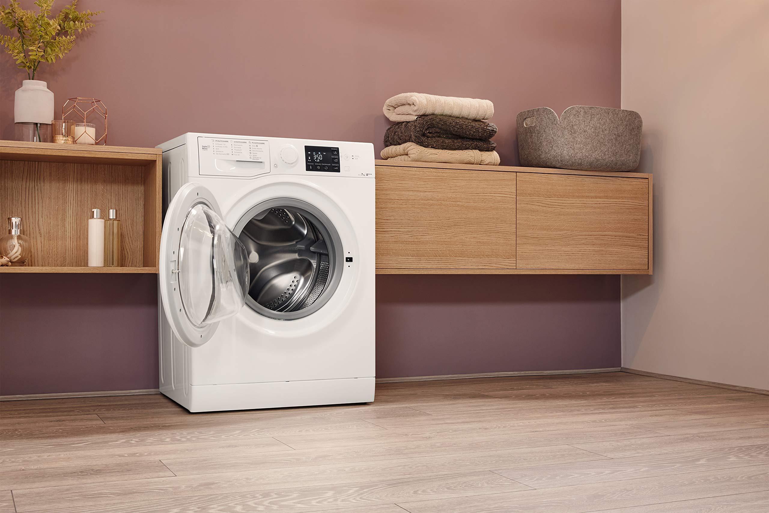 Bauknecht-WM-Pure-7G41-Waschmaschine-Frontlader-A-10-1400-UpM-7-kg-Wei-langlebiger-Motor-Nachlegefunktion-Wasserschutz