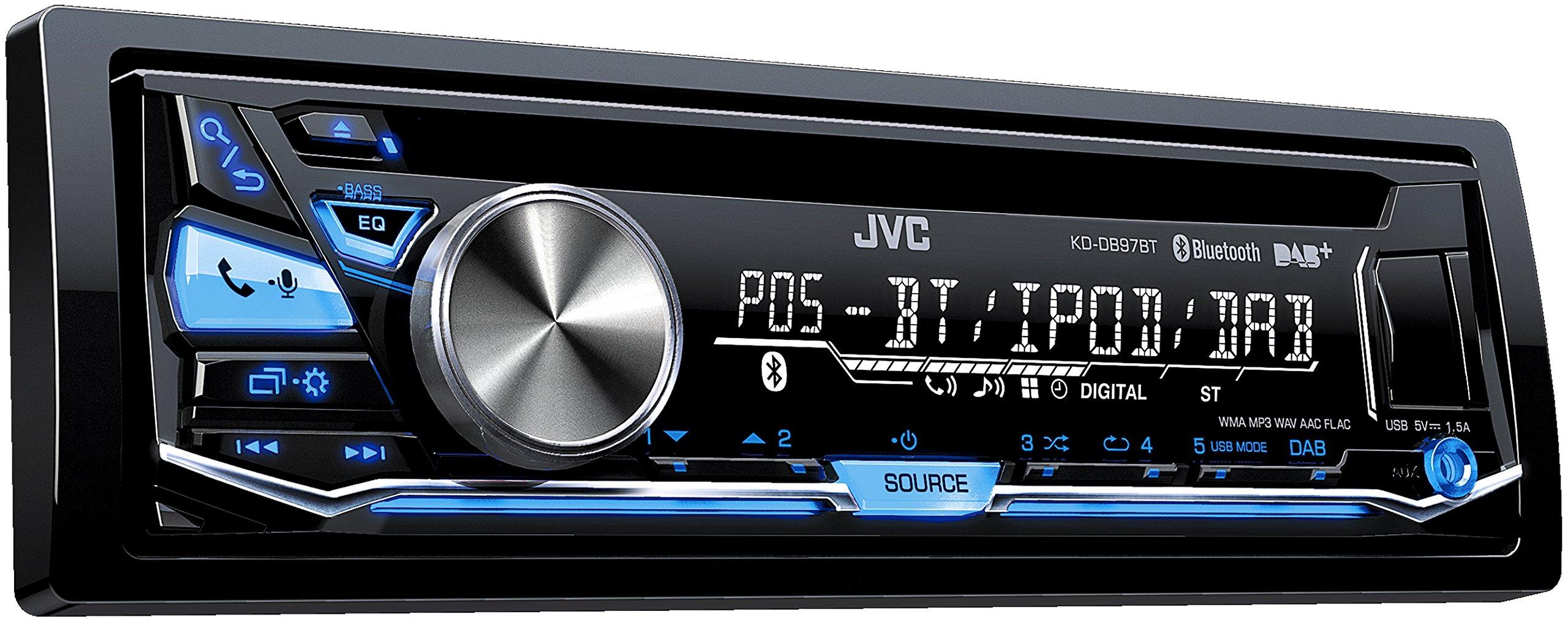 JVC-KD-DB97BT-USBCD-Receiver-DAB-Front-AUX-Bluetooth-schwarz