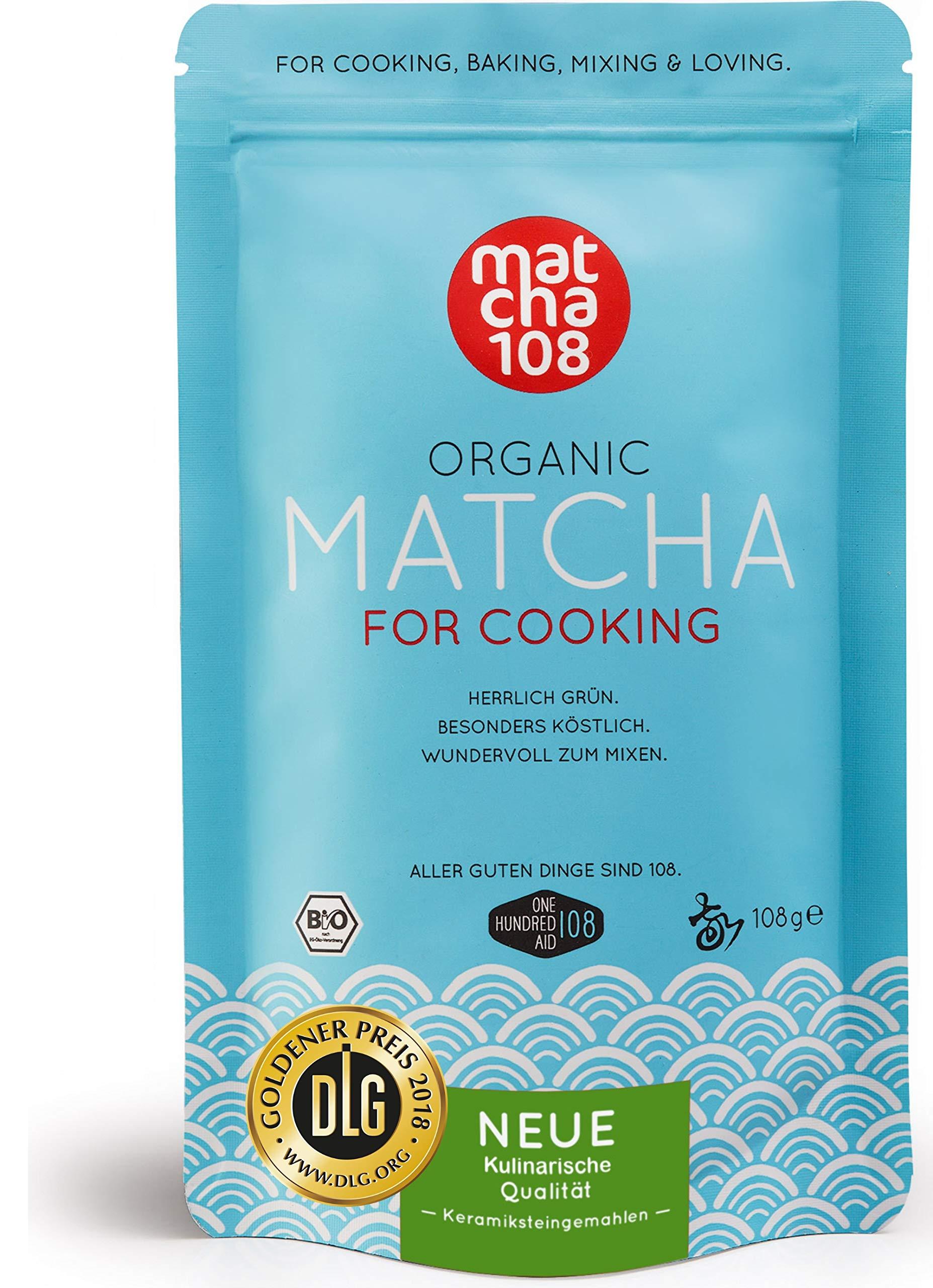 Matcha-Pulver-Tee-108–Bio-Premium-Qualitt-fr-krftiges-Tee-Aroma-zum-Mixen-Ideal-fr-Smoothies-Lattes-zum-Kochen-Backen–Zertifiziertes-Grntee-Pulver-108g-Culinary-Grade-Green-Tea
