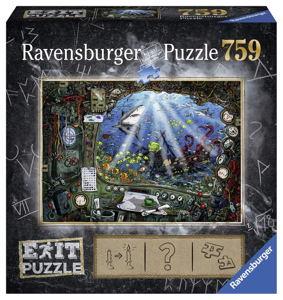 Ravensburger-Erwachsenenpuzzle-19953-Ravensburger-19953-Exit-4-Im-U-Boot-Erwachsenenpuzzle