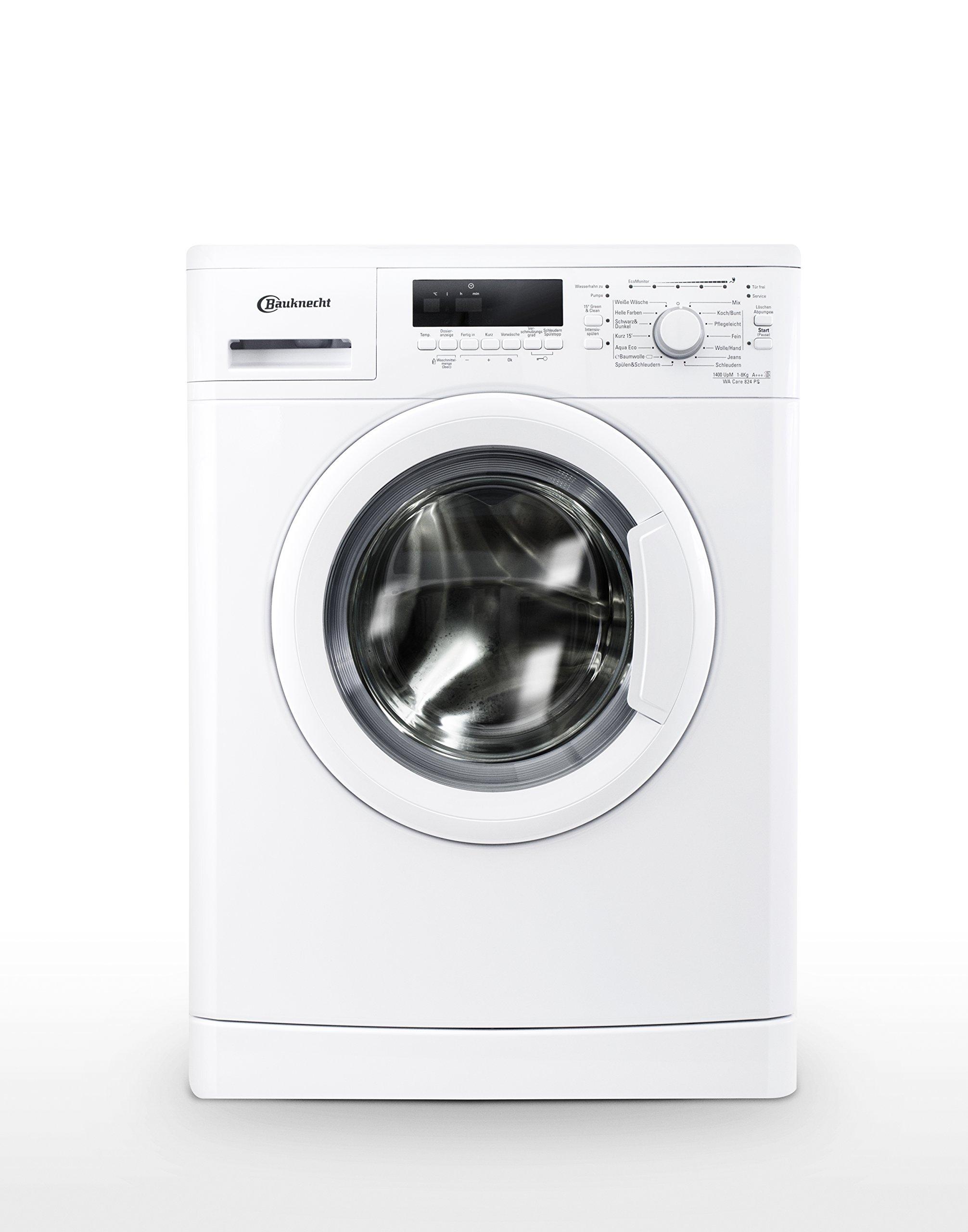 Bauknecht-WA-Care-824-PS-Waschmaschine-FLA-137-kWhJahr-1400-UpM-8-kgUnterbaufhigDosieranzeige-und-EcoMonitorwei