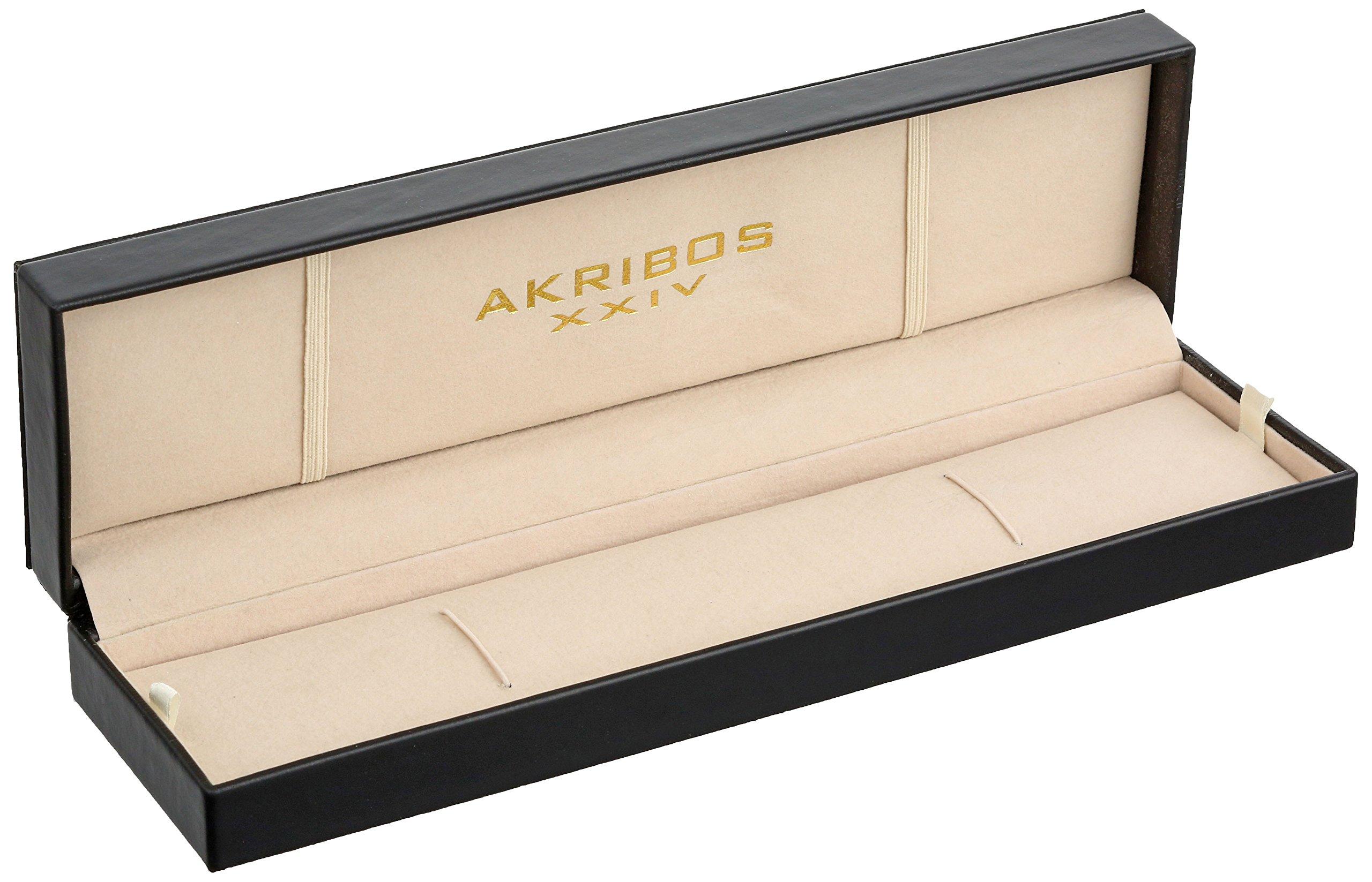 Akribos-XXIV-Herren-Omni-Analog-Quarz-Armbanduhr-mit-Edelstahl-Armband