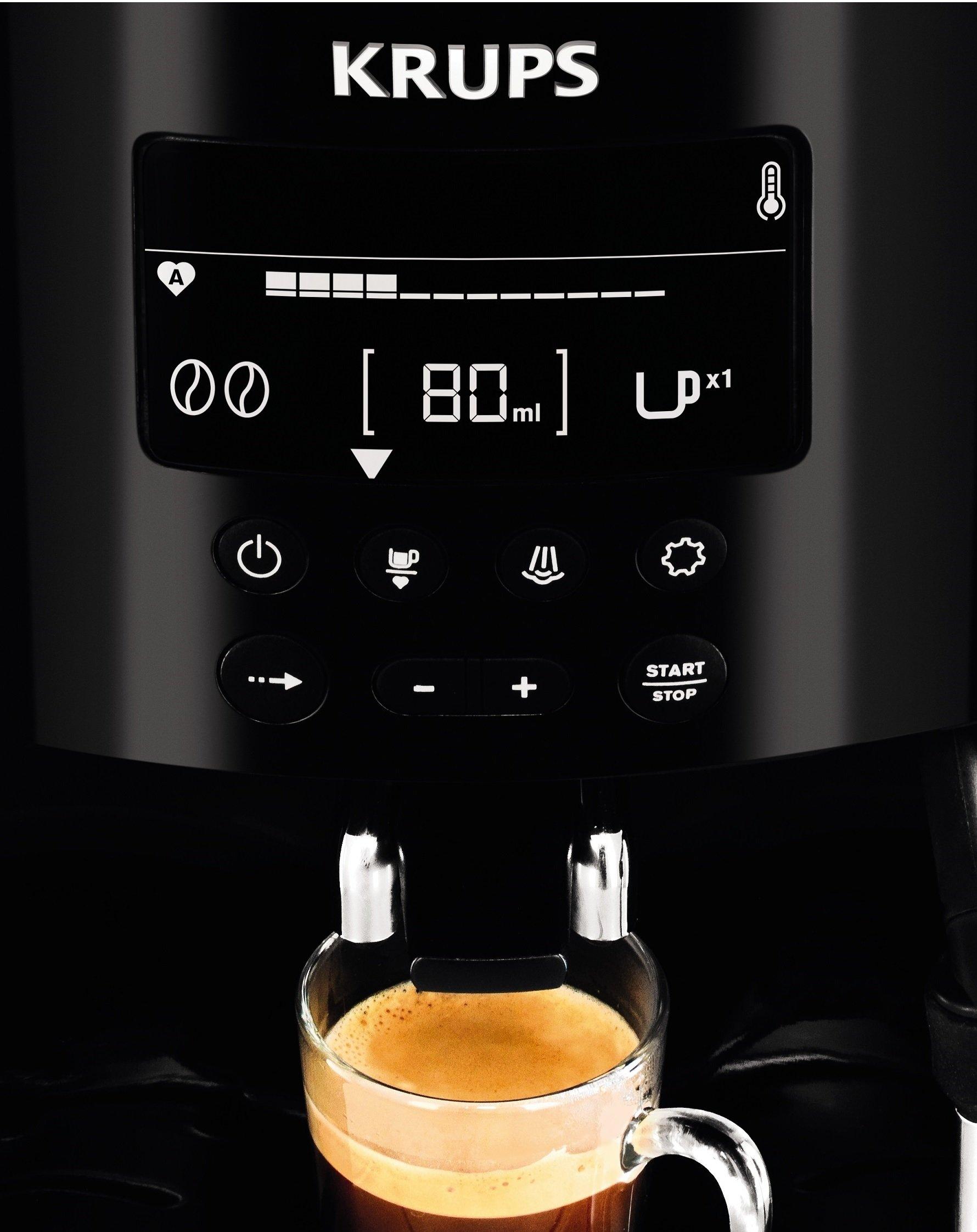 Krups-EA815070-Kaffeevollautomat-1450-Watt-18-Liter-15-bar-LC-Display-CappuccinoPlus-Dse-schwarz
