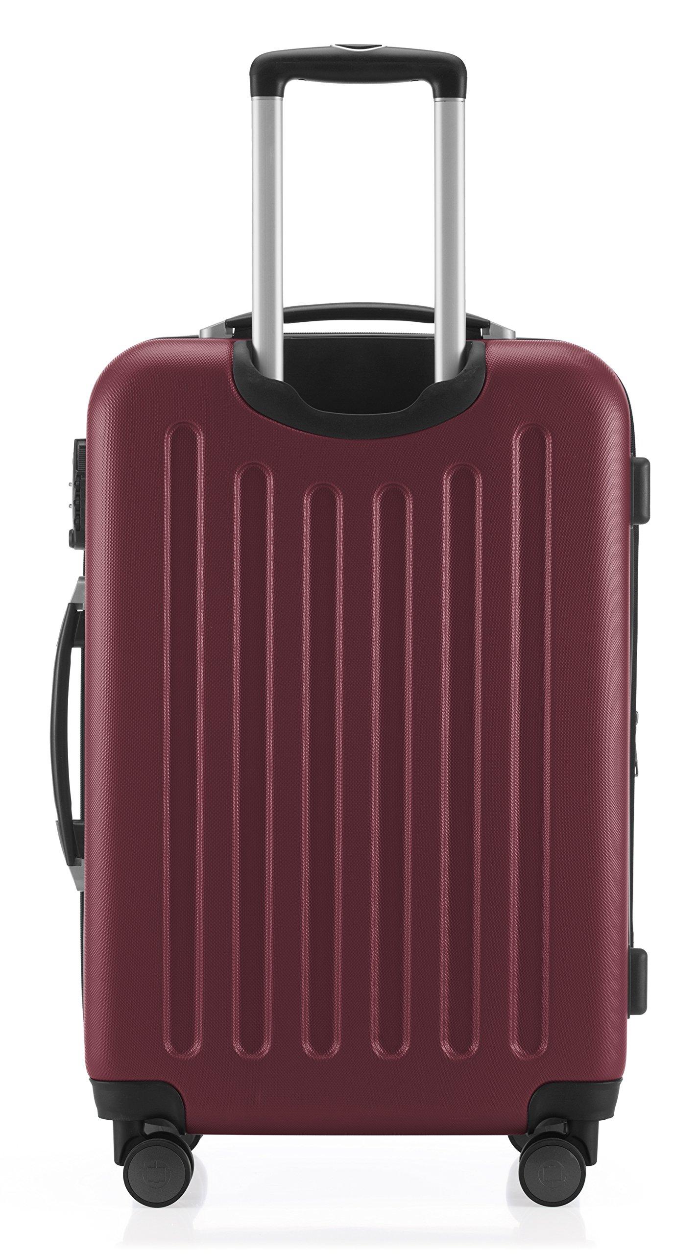 HAUPTSTADTKOFFER-Spree-Hartschalen-Koffer-Koffer-Trolley-Rollkoffer-Reisekoffer-Erweiterbar-TSA-4-Rollen-65-cm-74-Liter-Burgund
