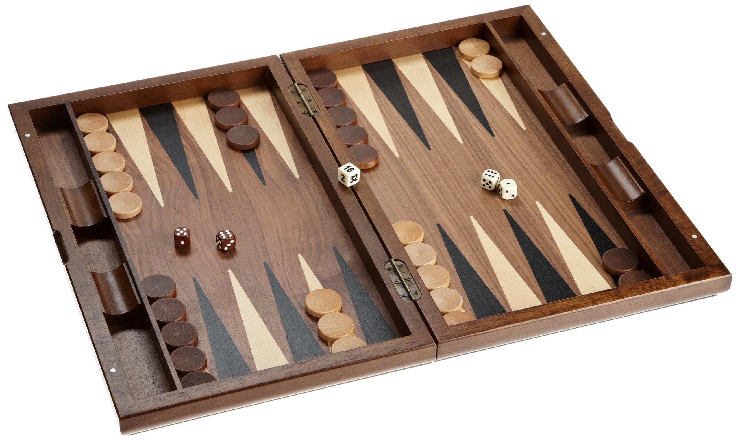 Philos-2525-Schach-Backgammon-Dame-Set-Magnetverschluss-Feld-50-mm-Knigshhe-90-mm